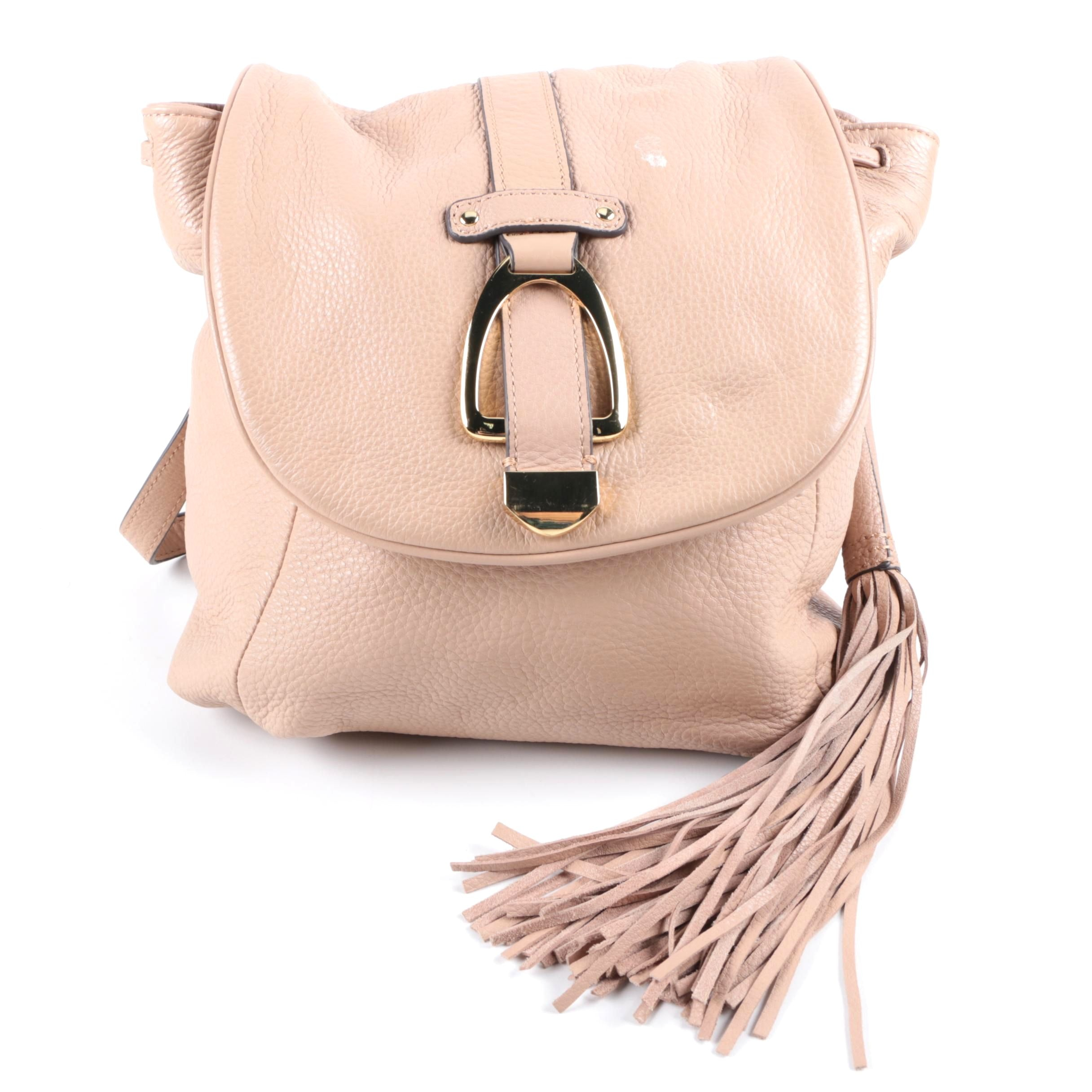 G.I.L.I Got It Love It Pebbled Leather Convertible Backpack Bag