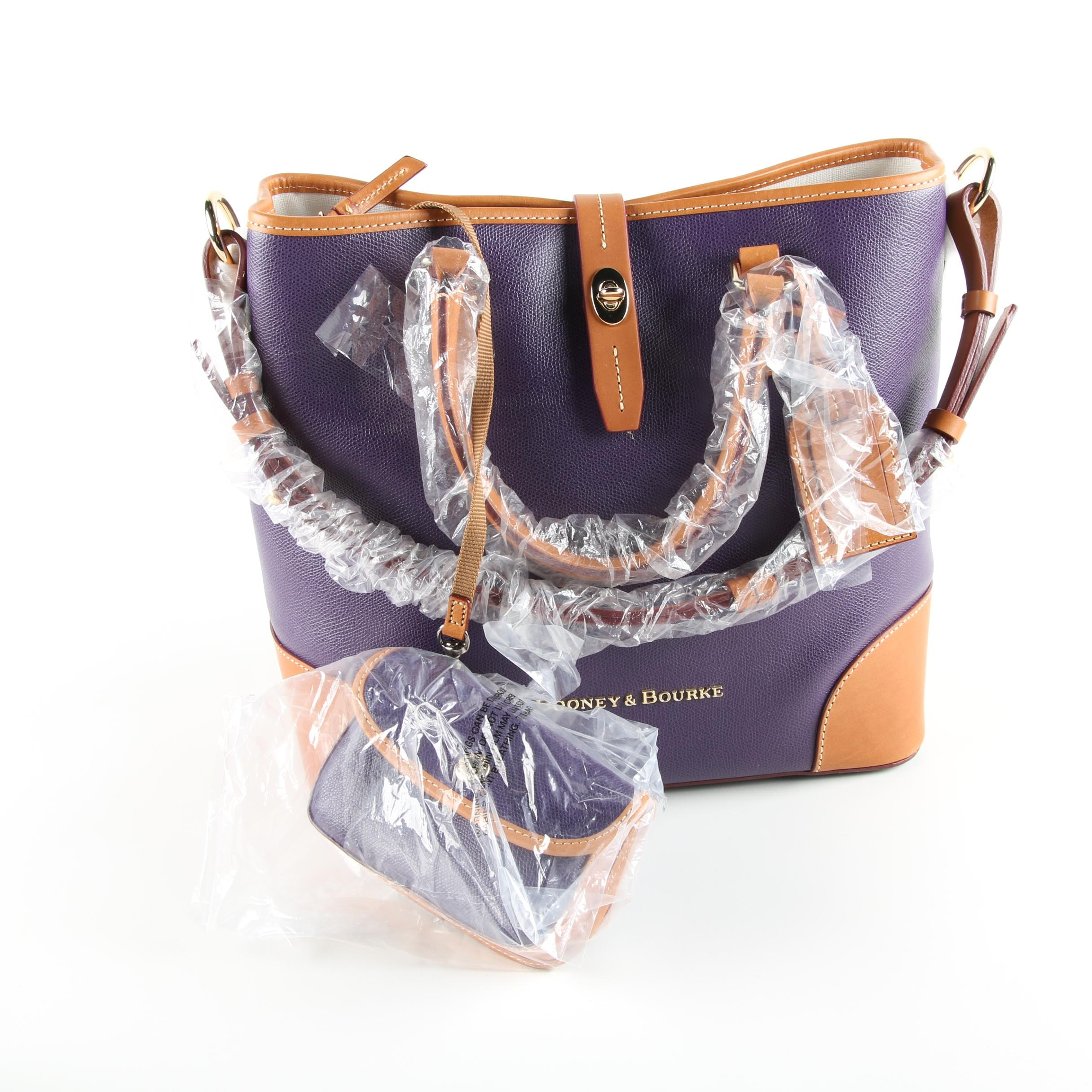 Dooney & Bourke Embossed Leather Shelby Shopper With Wristlet