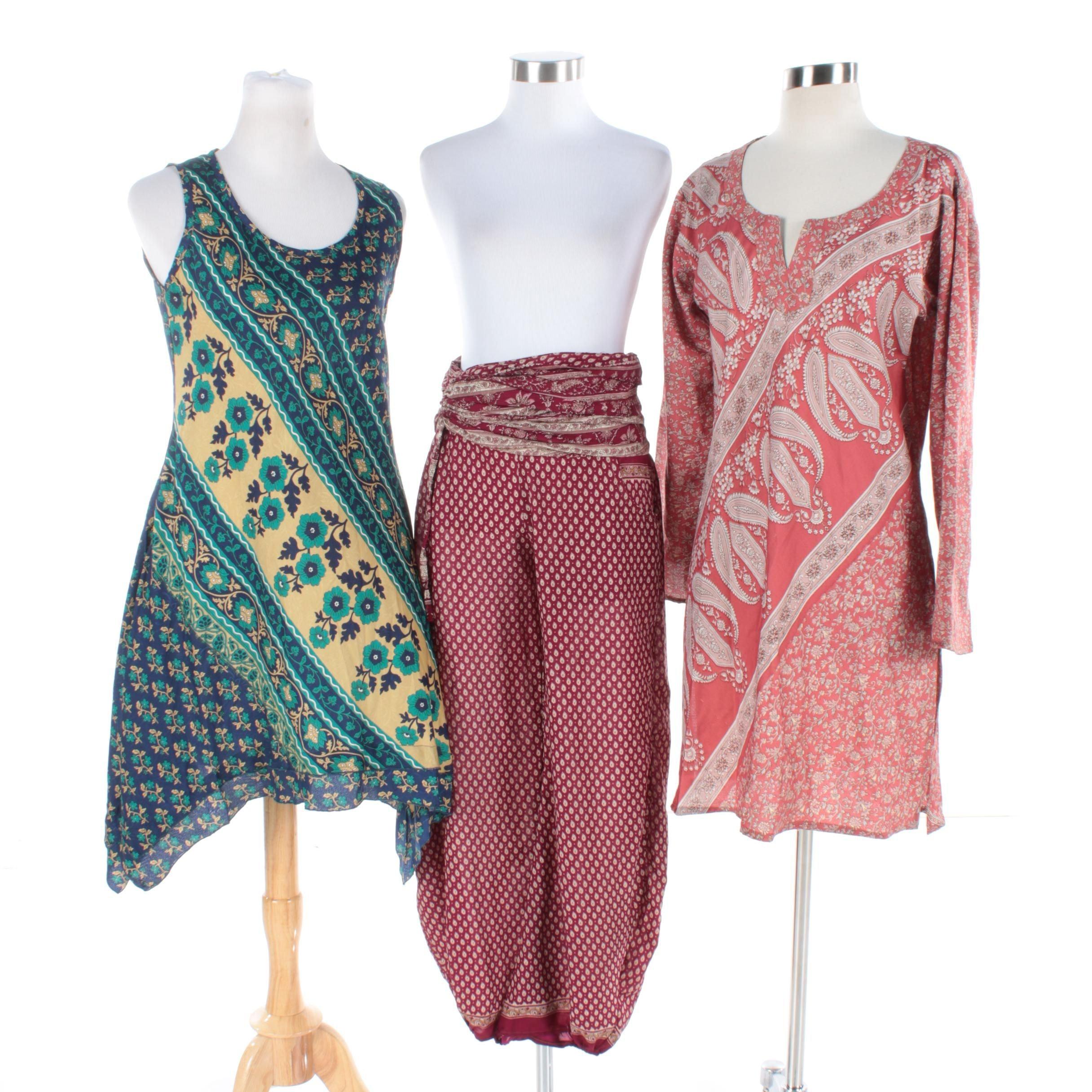Vintage Sari One of Kind Clothing Items