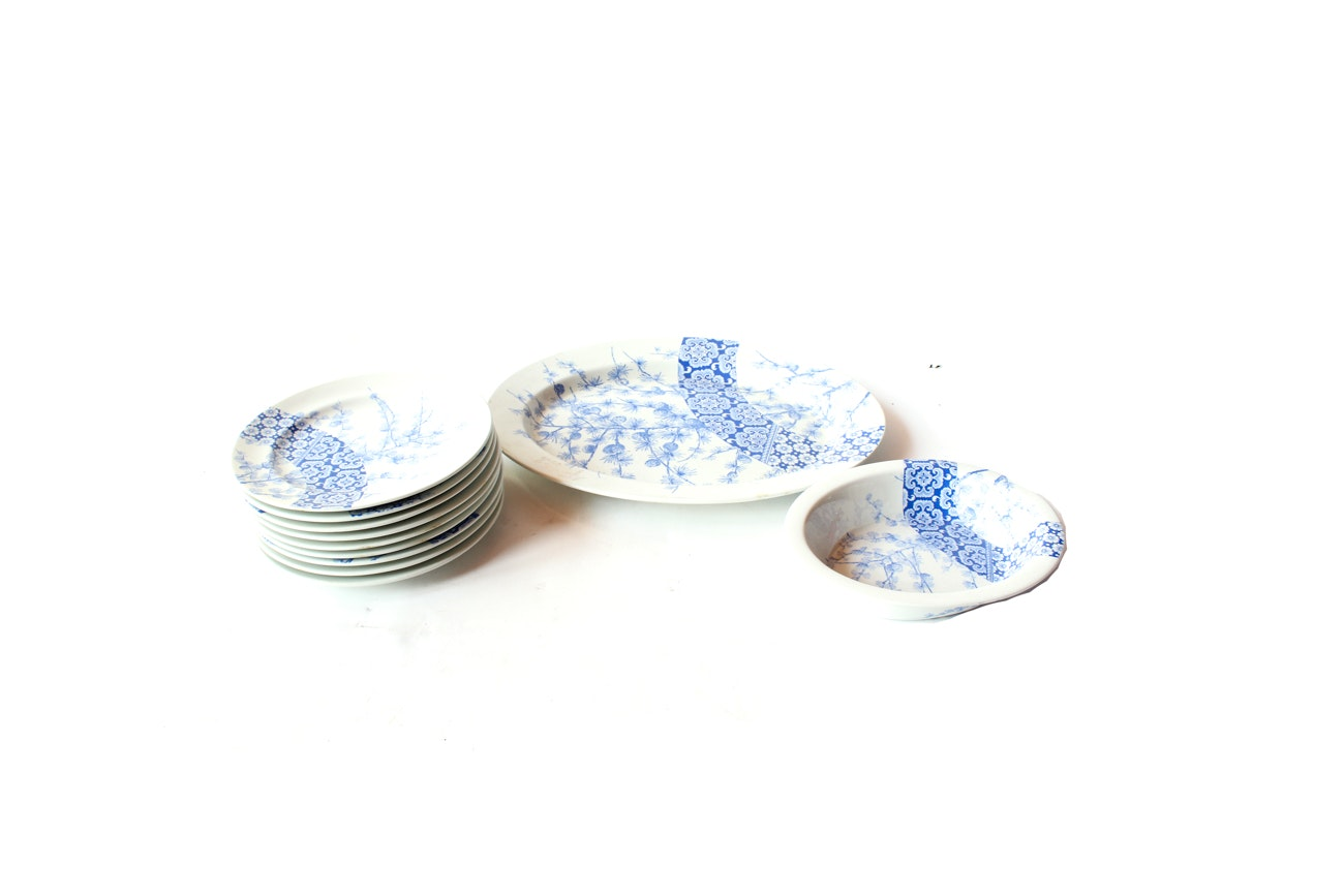 Norcrest Blue and White Tableware