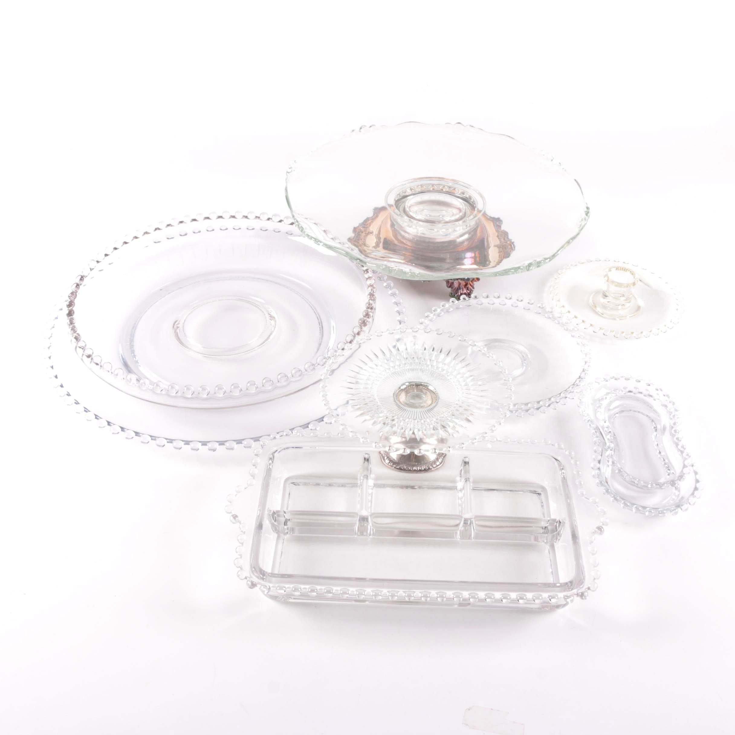 Crystal and Glass Tableware Featuring Sterling Silver Accents