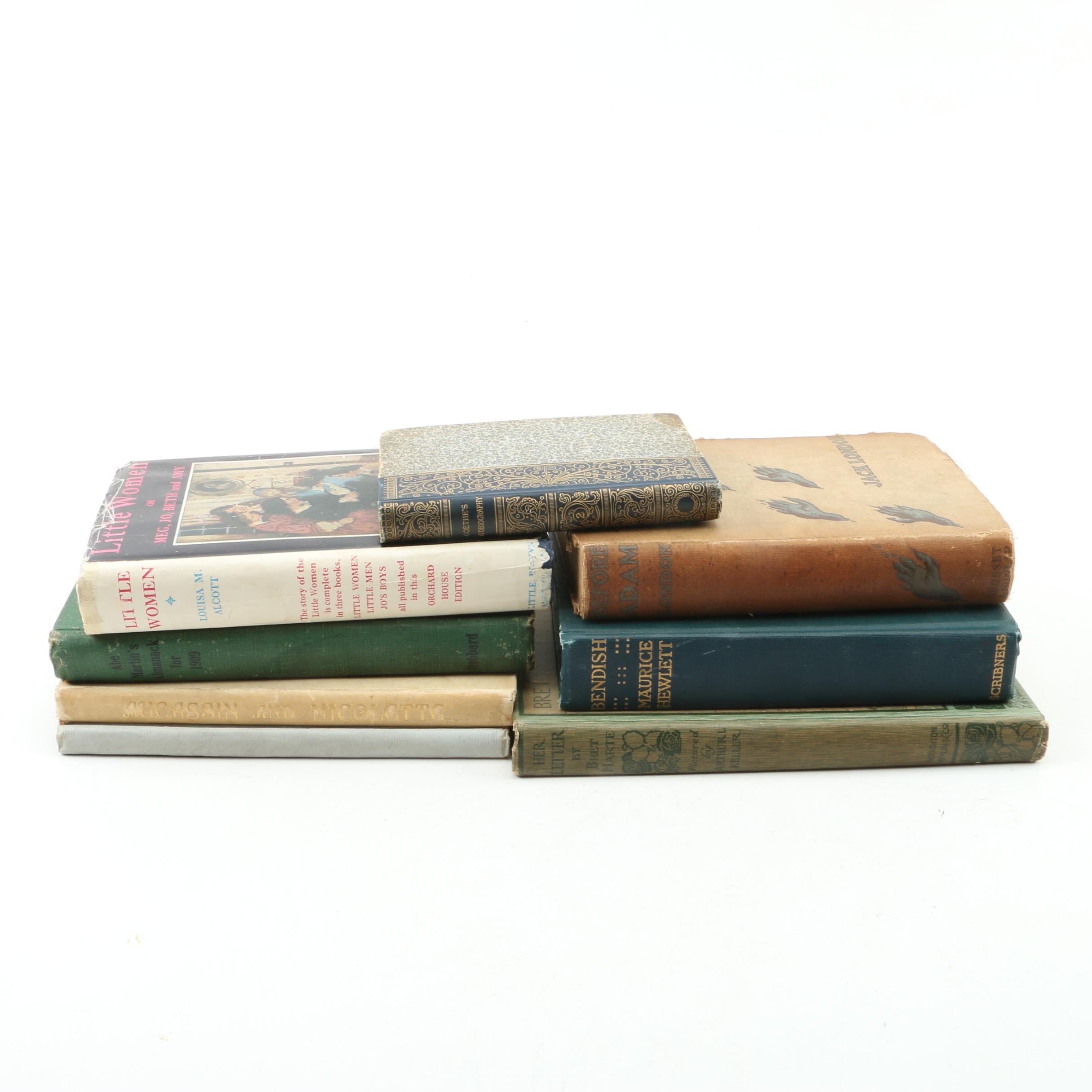Vintage and Antique Books Including Jack London, Bret Harte and Laurence Housman