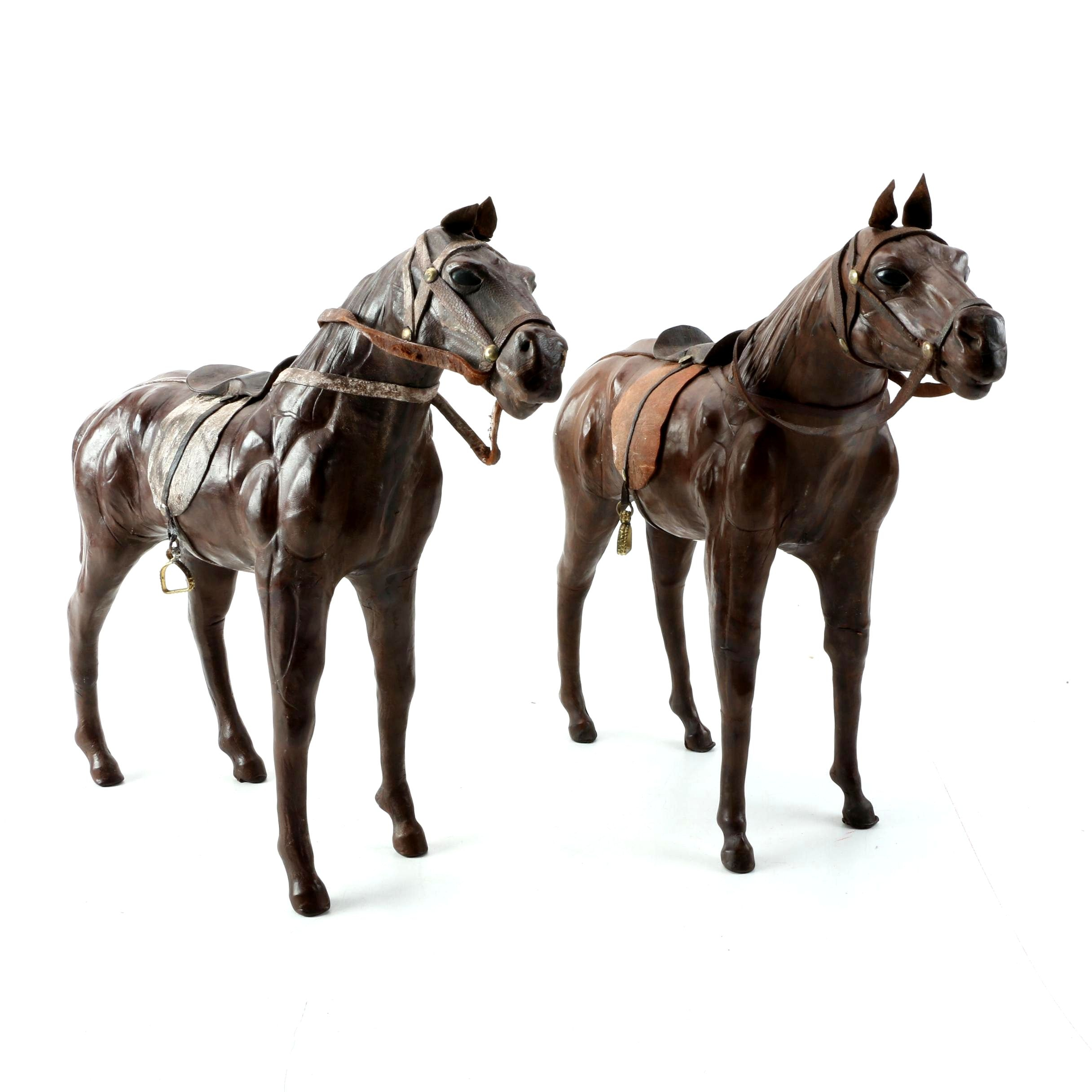 Leather Horse Sculptures