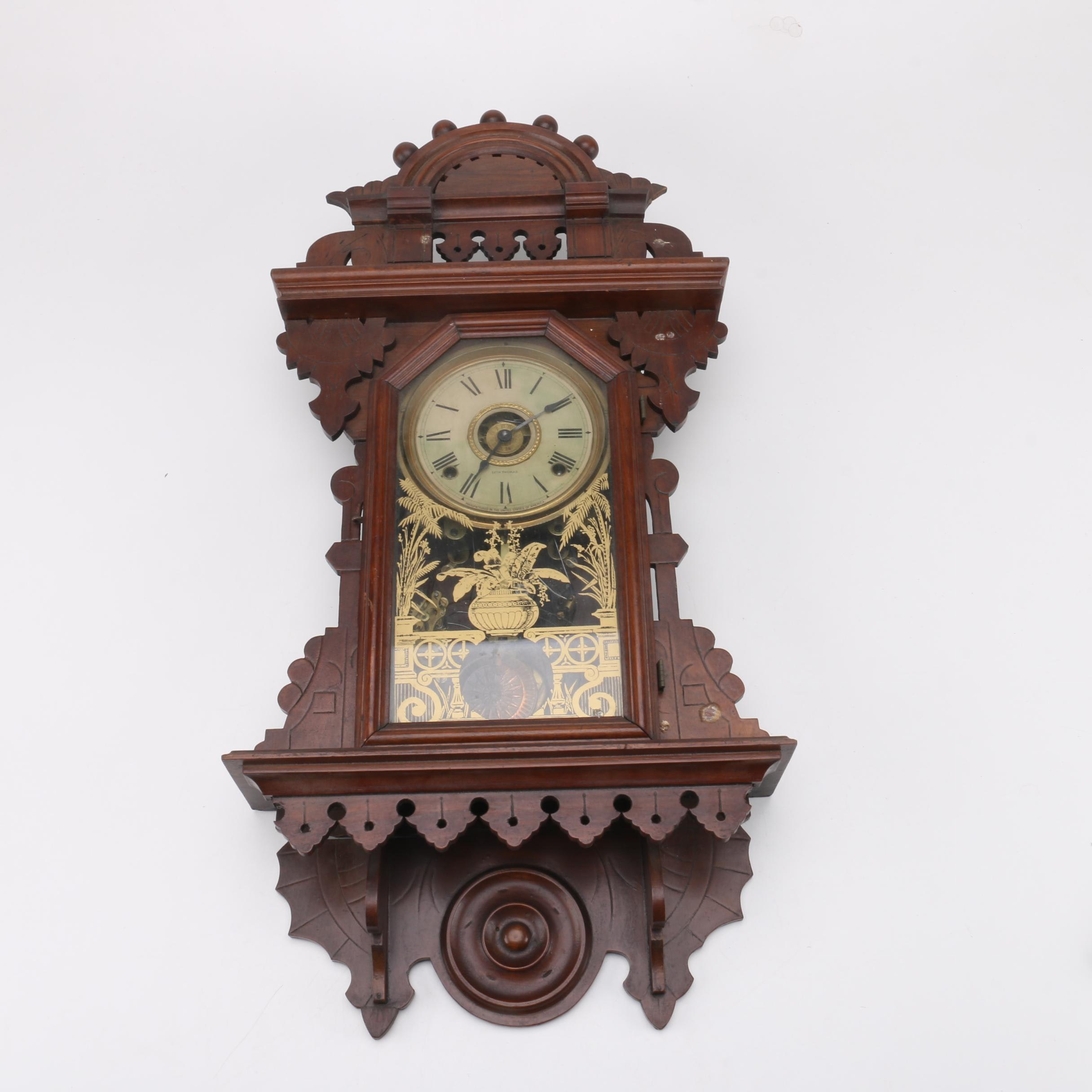 Late 19th Century Russel & Jones Wall Clock with Seth Thomas Face