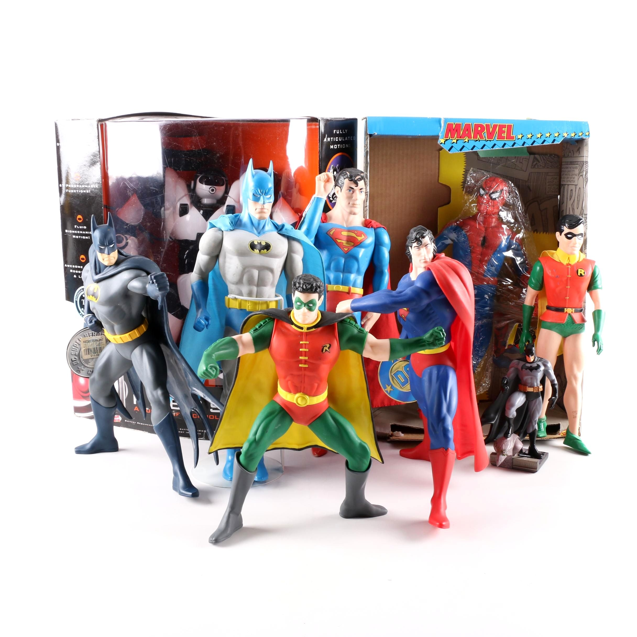 Marvel and DC Action Figures and RoboSapien Toy
