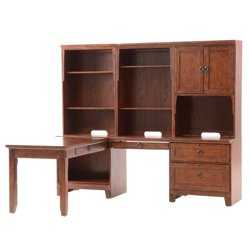 "Ashley Furniture ""Prarie Oak"" Sectional Desk"