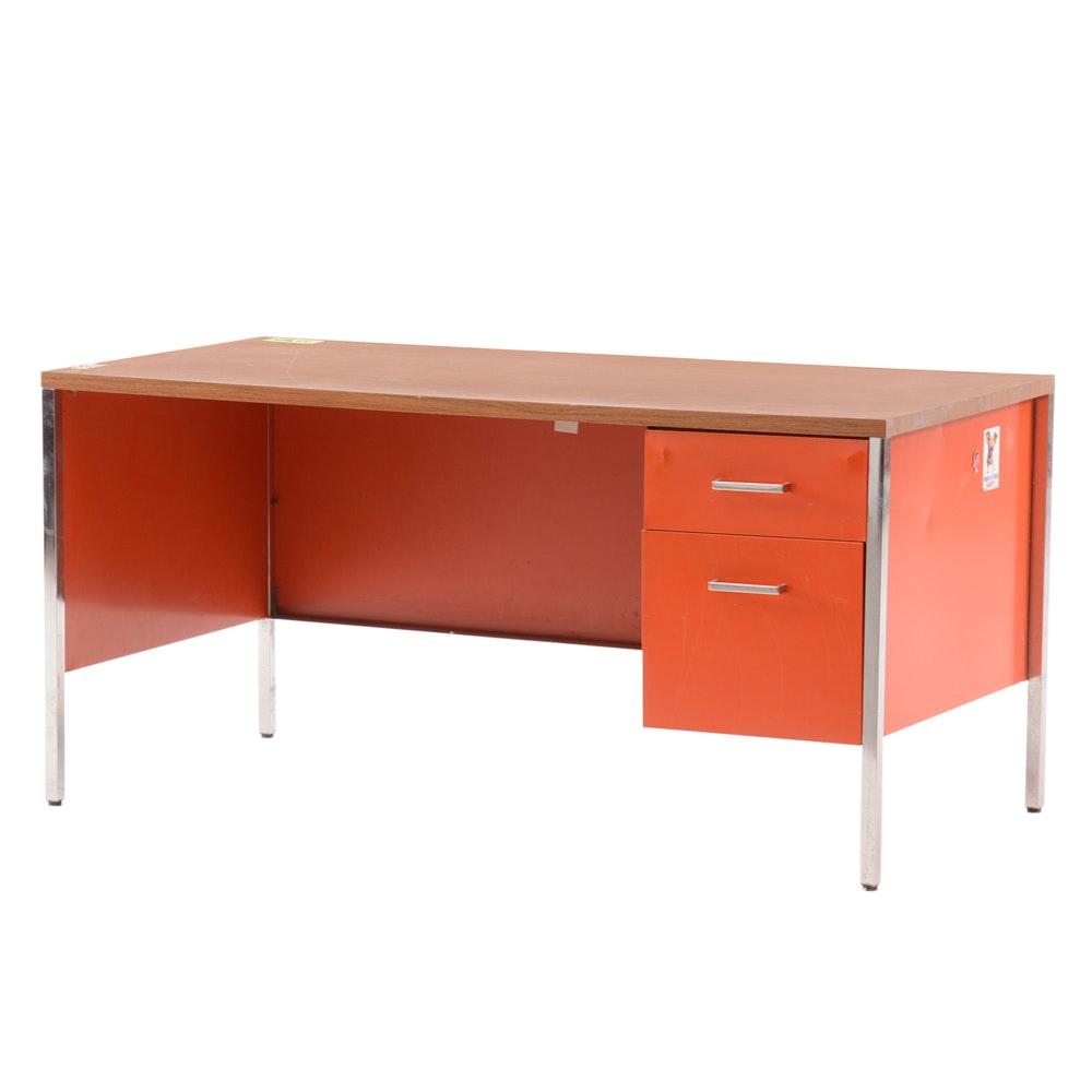 Vintage Steelcase Office Desk