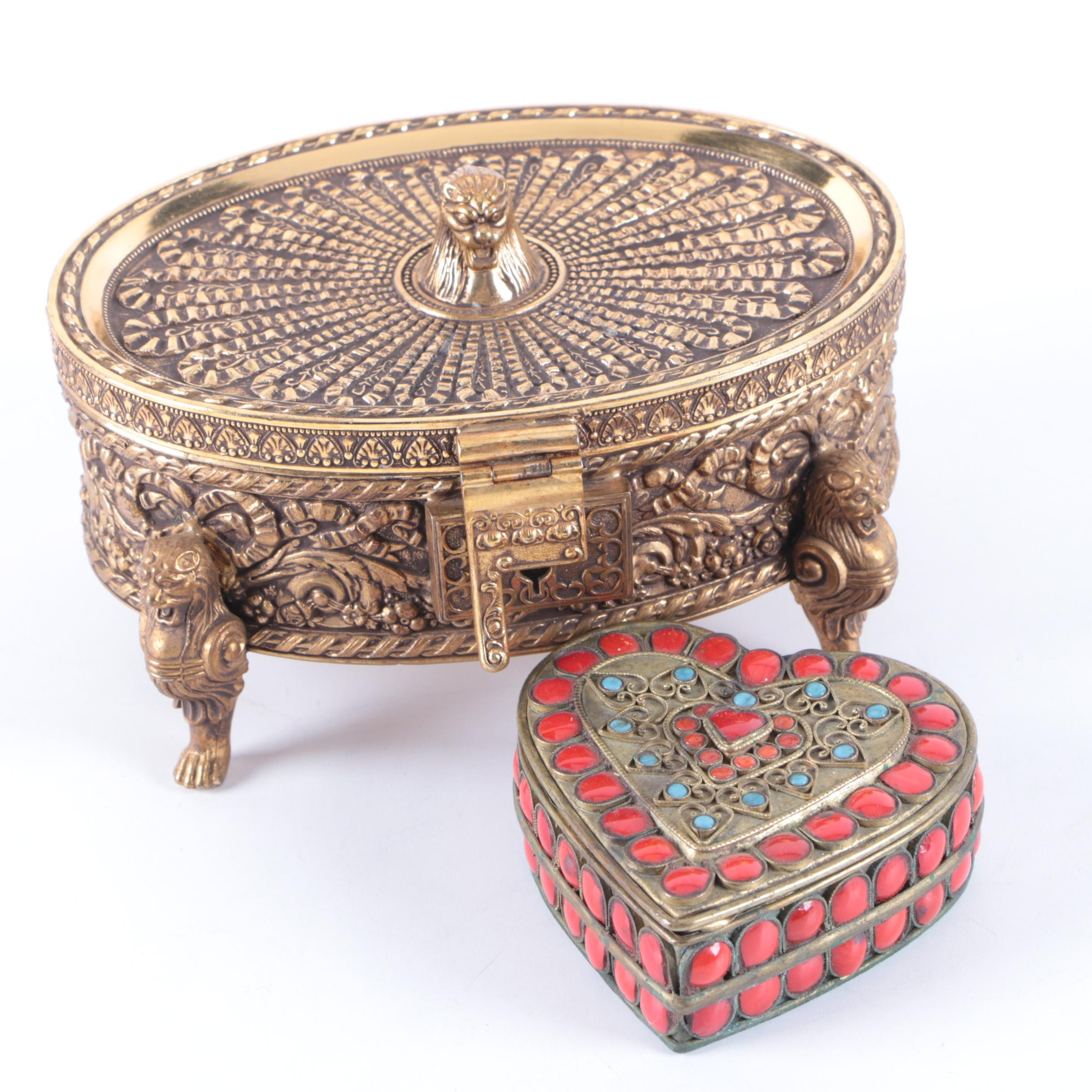Decorative Brass Boxes