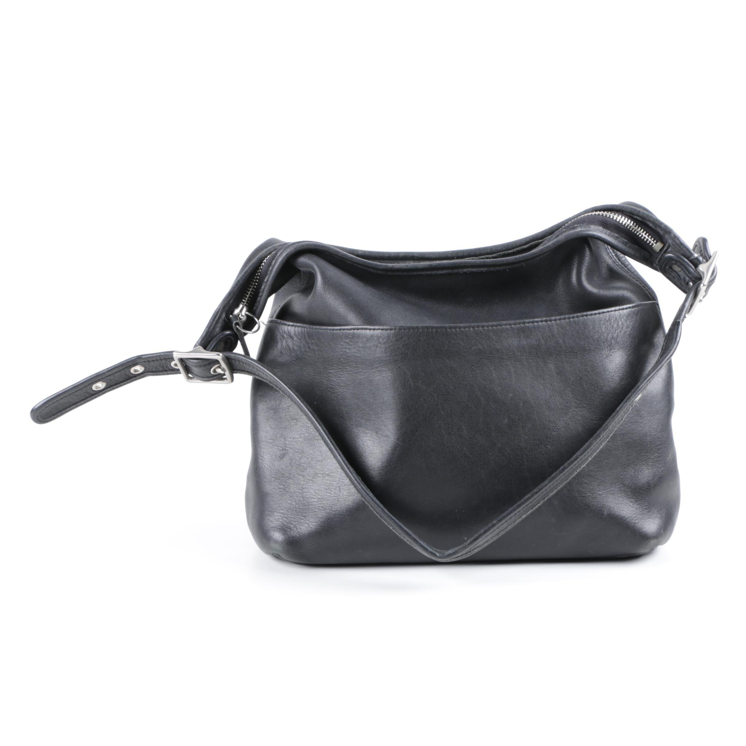 Coach Legacy Black Leather Hobo Handbag