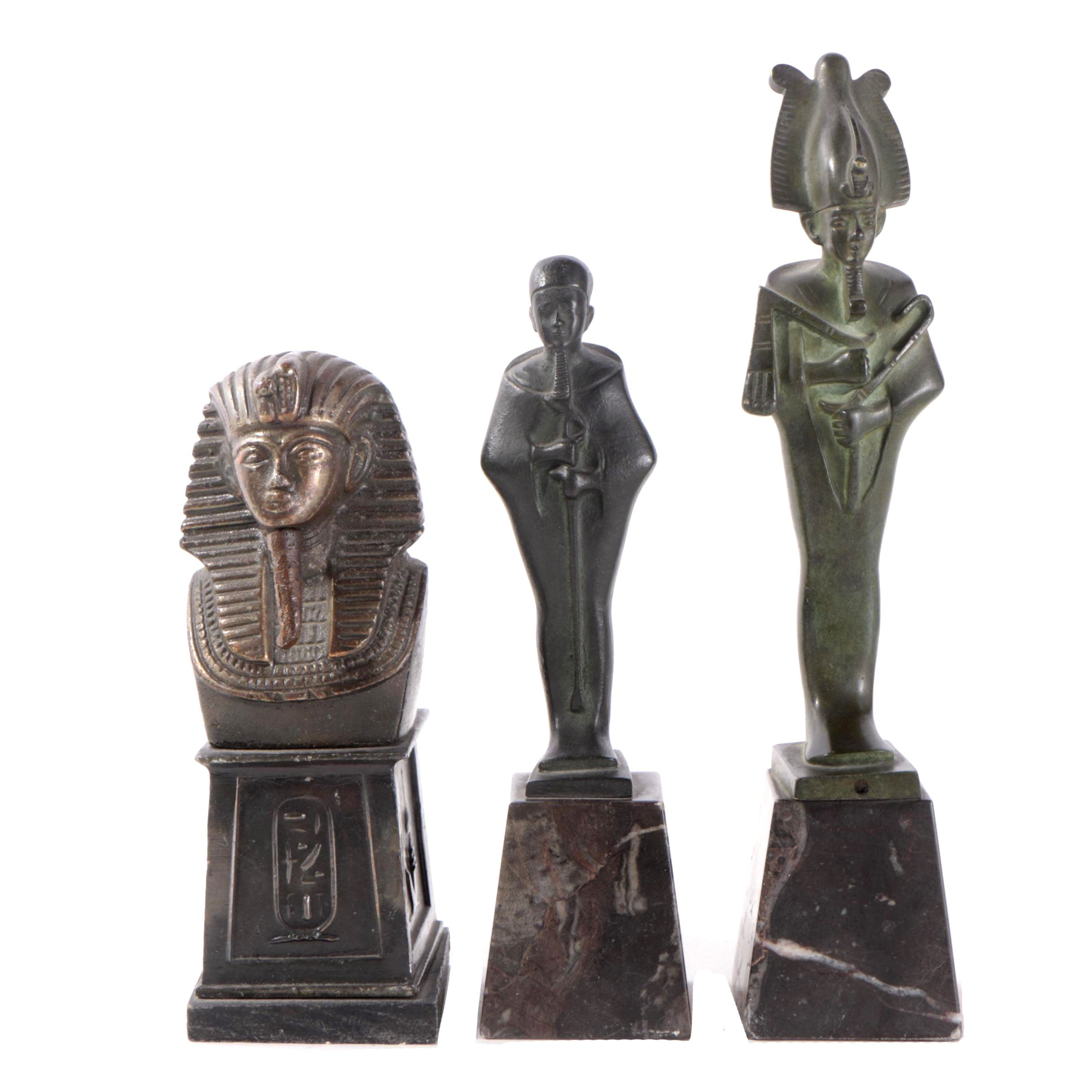 Ancient Egyptian Style Metal Sculptures
