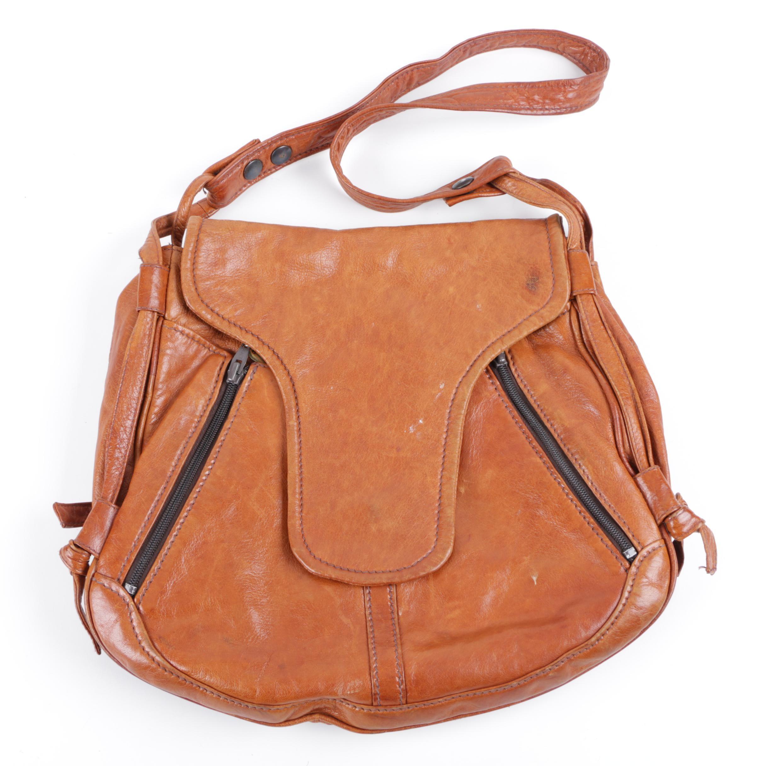 Buti Super Oscar Brown Leather Shoulder Bag