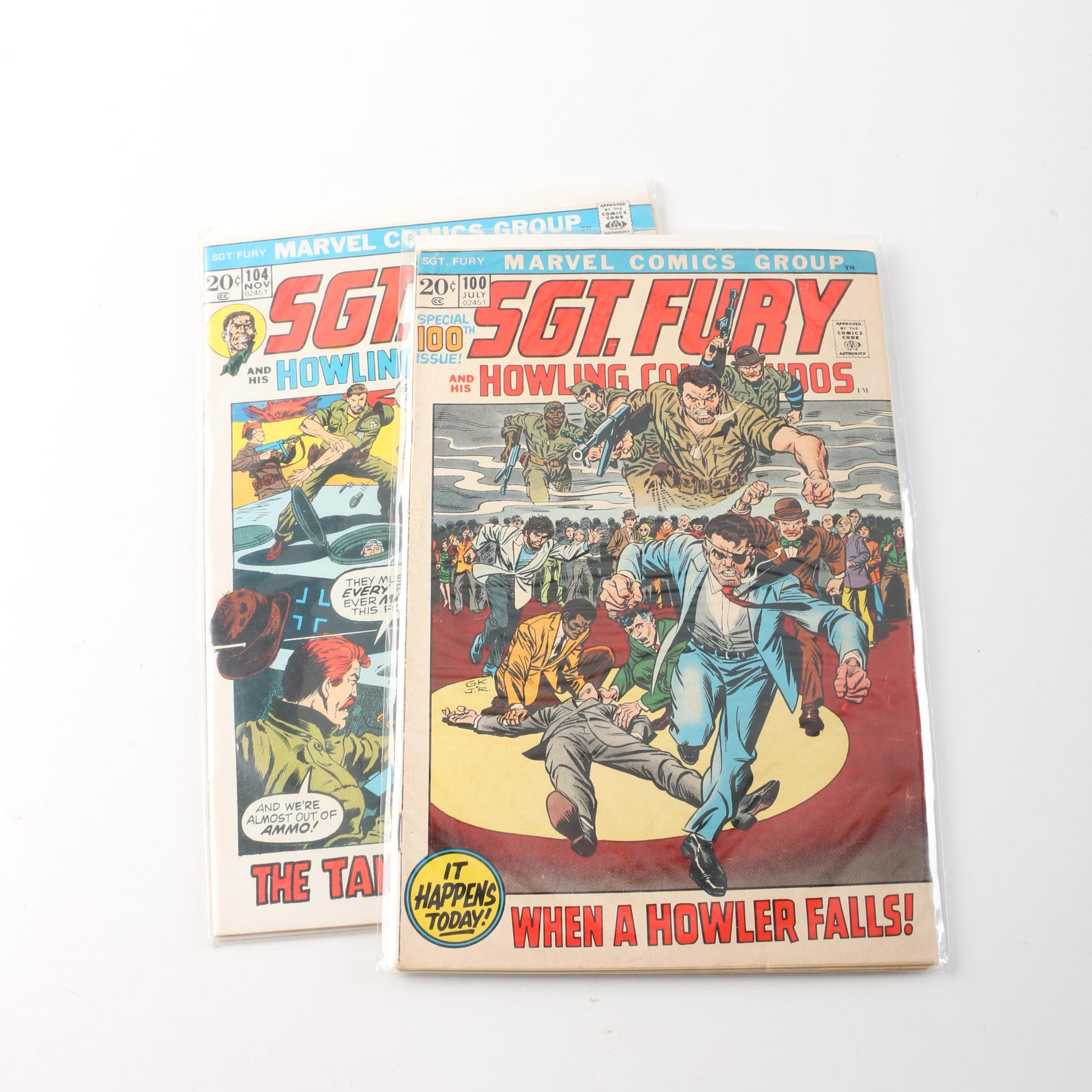 """1972 """"Sgt. Fury and the Howling Commandos"""" Issues #100 and 104"""