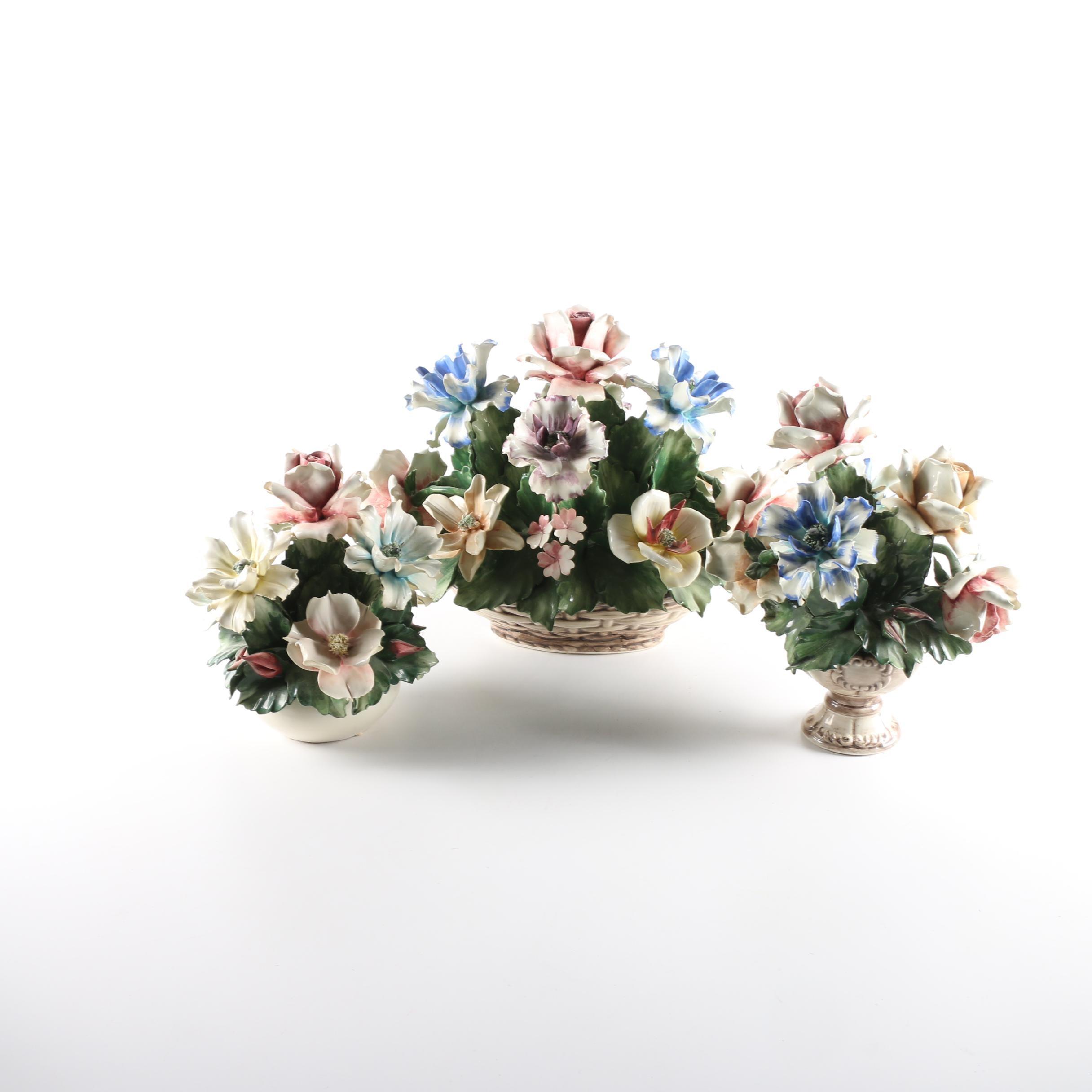 Porcelain Capodimonte Bouquets