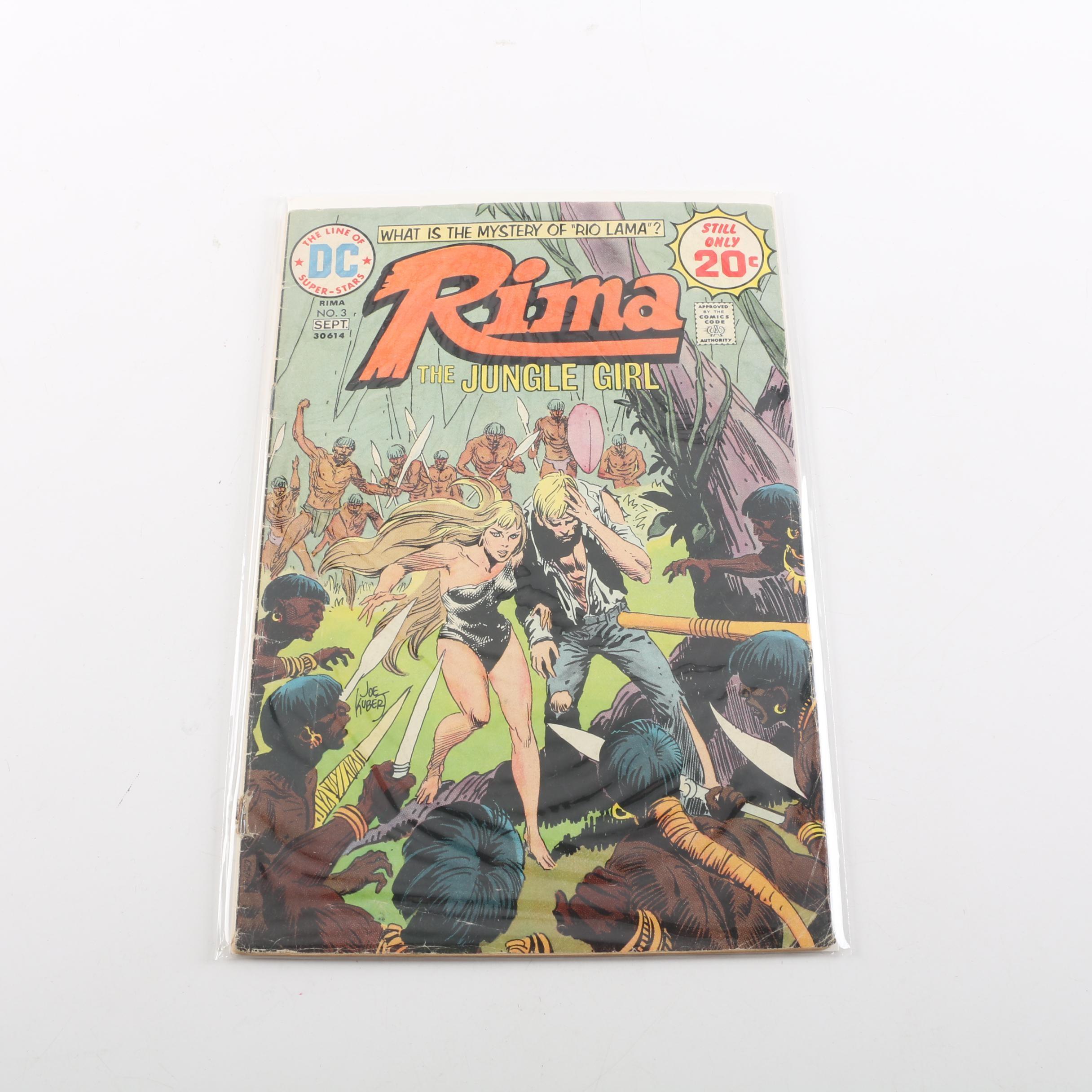 """1974 """"Rima the Jungle Girl"""" Issue #3"""
