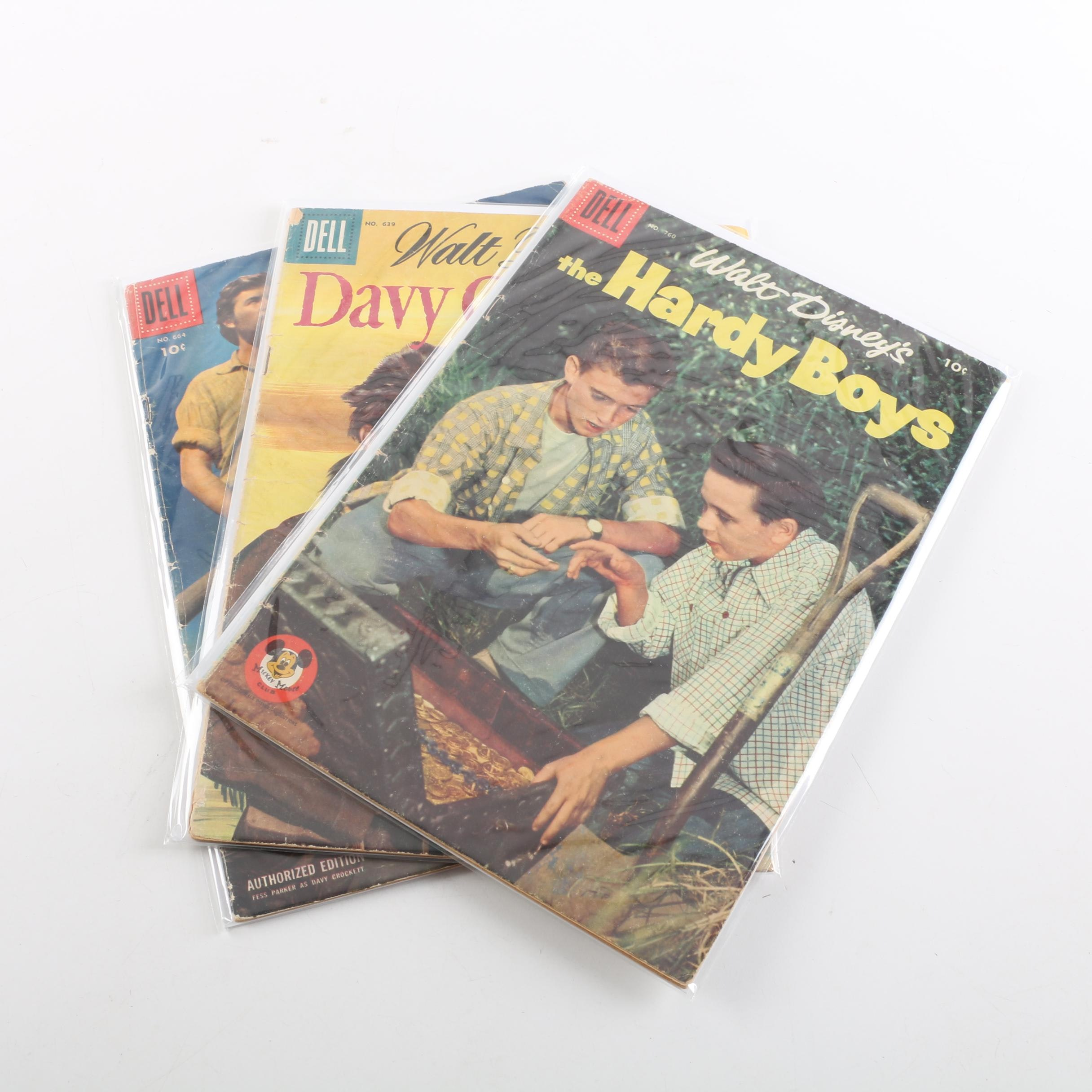"""Mid-1950s """"Four Color"""" Comics Featuring """"Davy Crockett"""""""