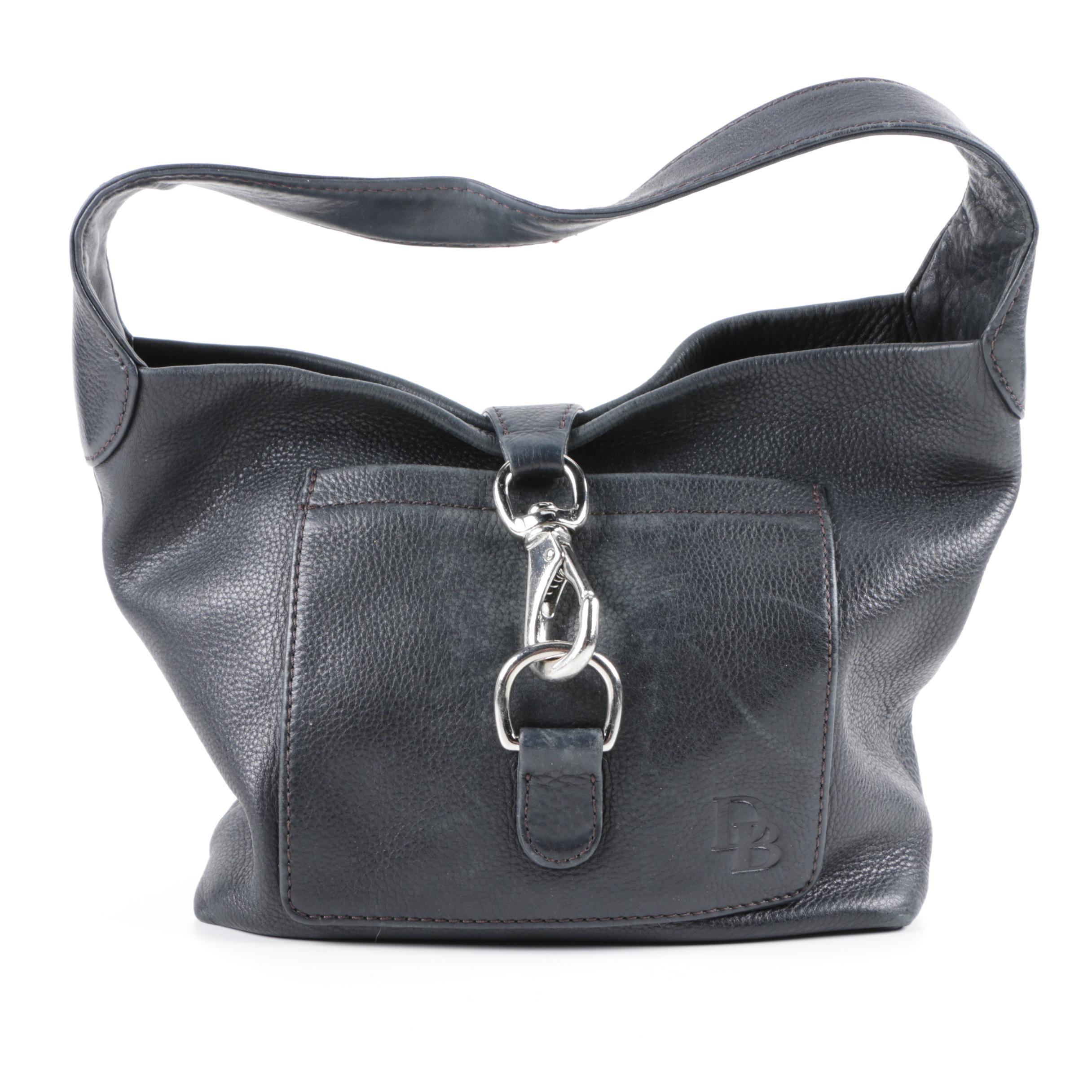 Dooney & Bourke Black Pebbled Leather Hobo Bag