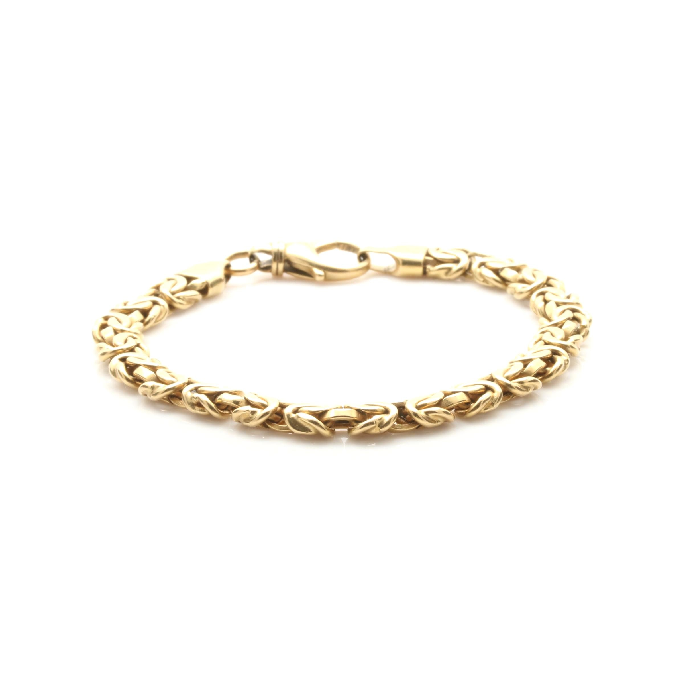 18K Yellow Gold Byzantine Chain Bracelet