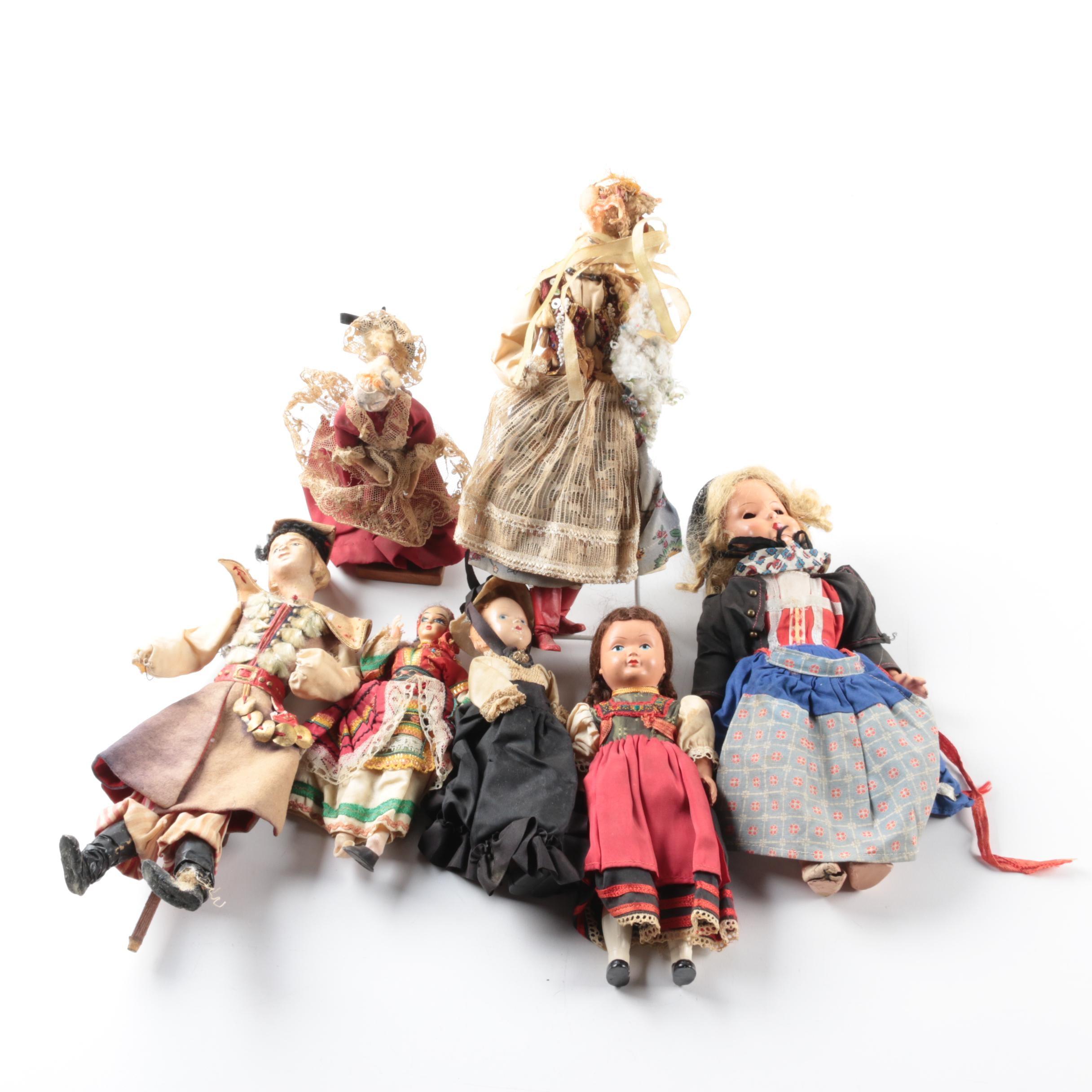 Vintage Scandinavian Composition and Plastic Dolls