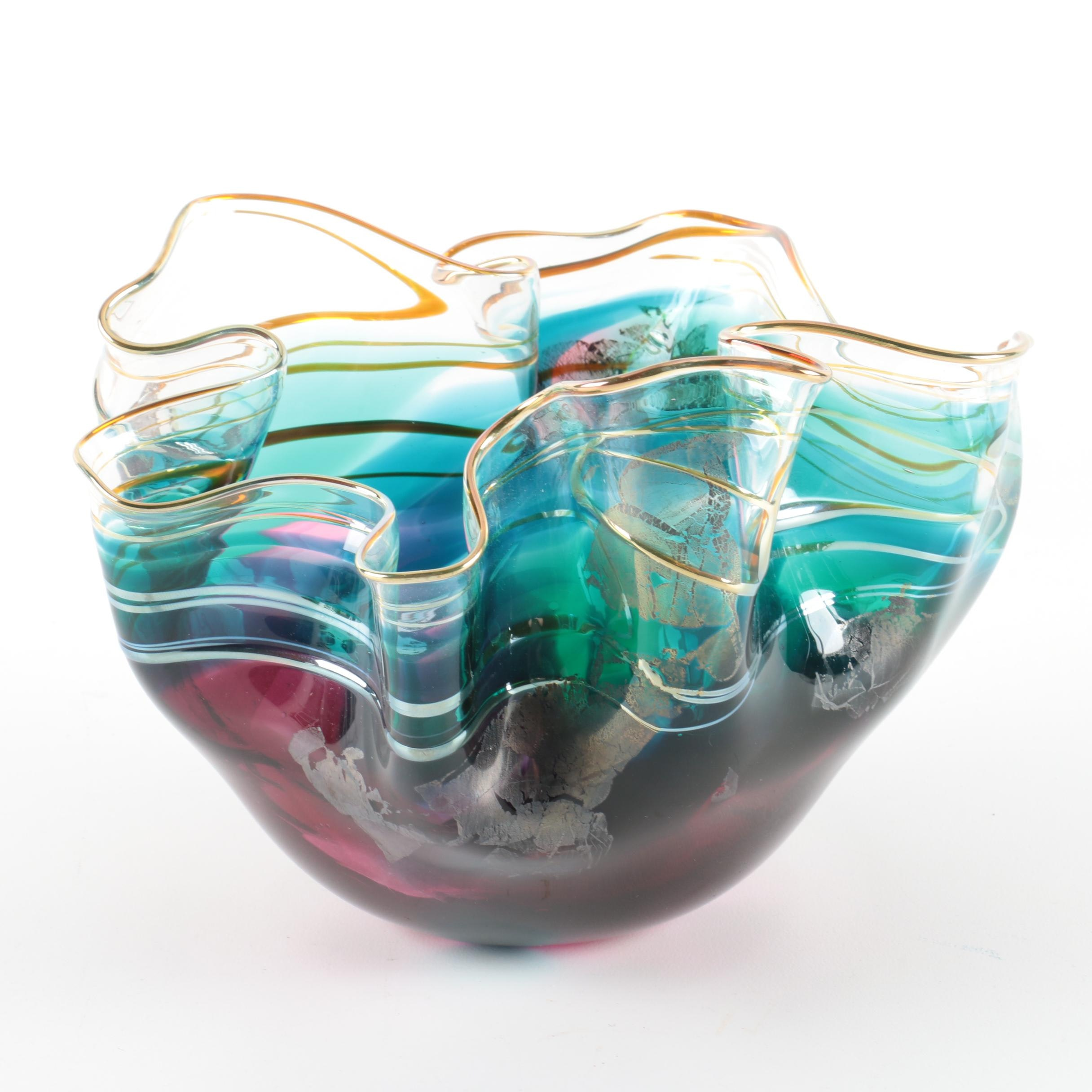 1997 Scott and Laura Curry Art Glass Bowl