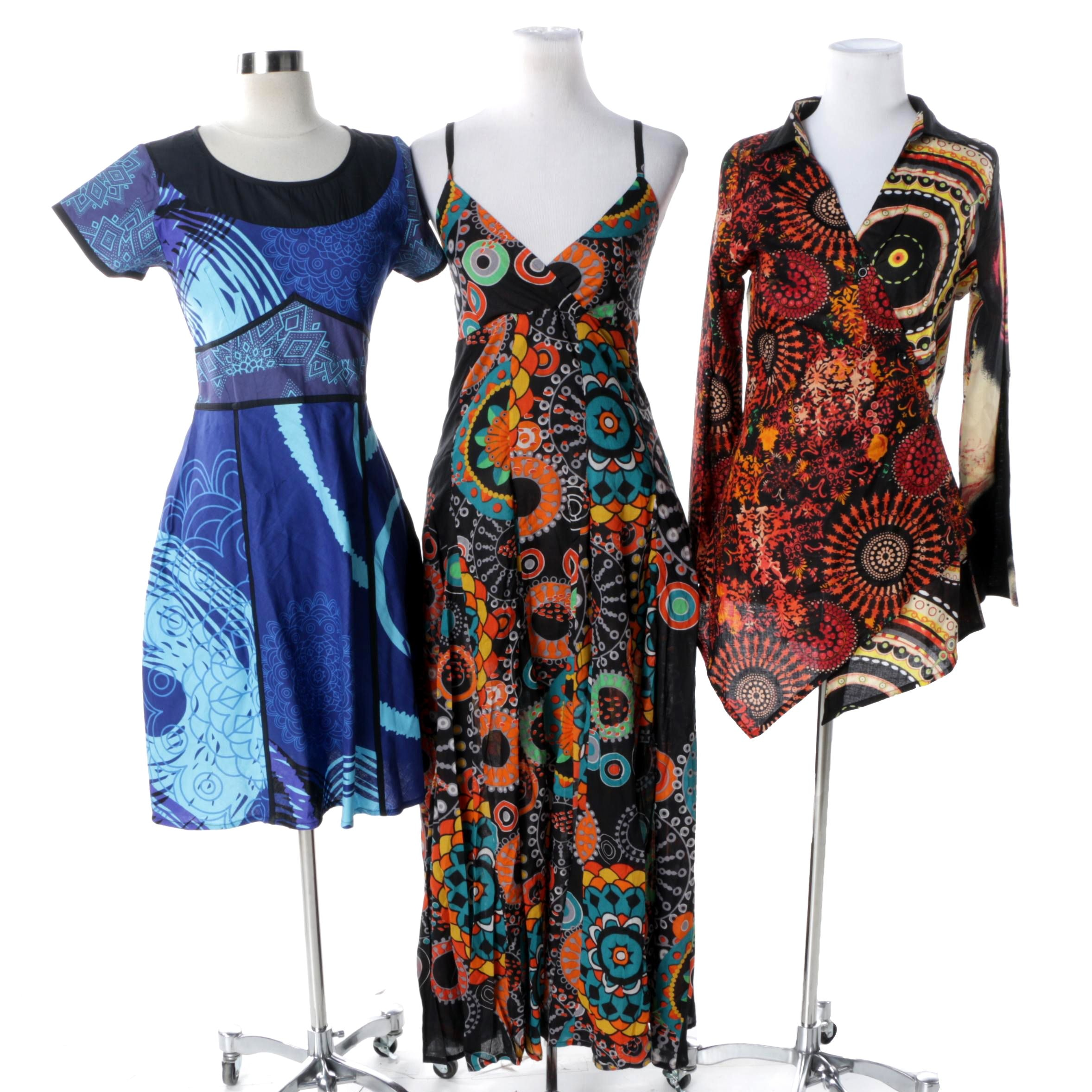 Women's Aller Simplement Size M Print Dresses and Tunic