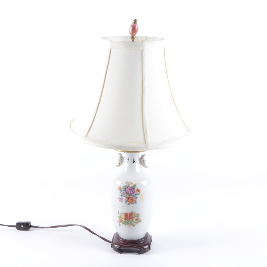 Chinese ceramic table lamp ebth chinese ceramic table lamp aloadofball Image collections