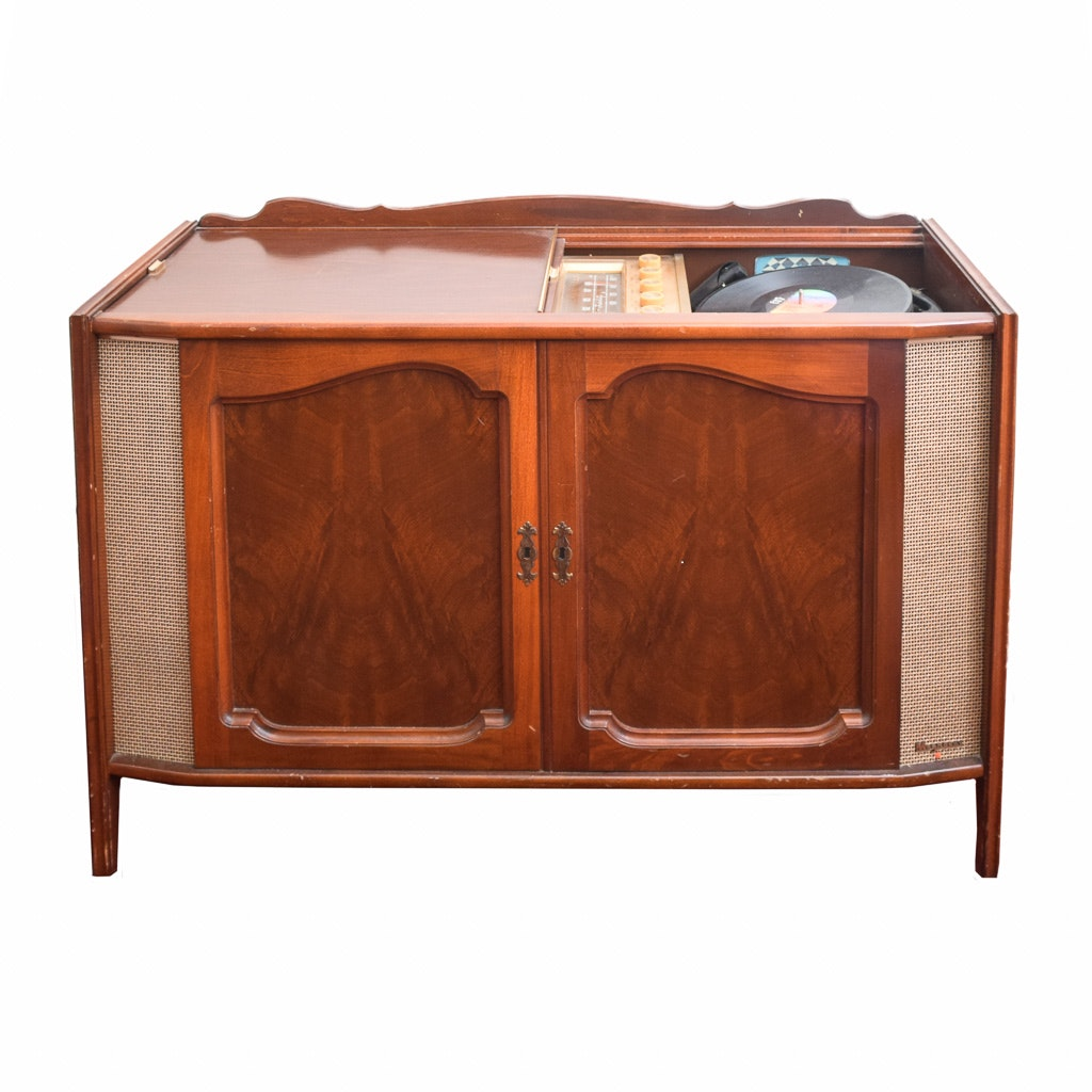 Charmant Vintage Magnavox Magnificent Stereo Cabinet With Record Player And Records  ...
