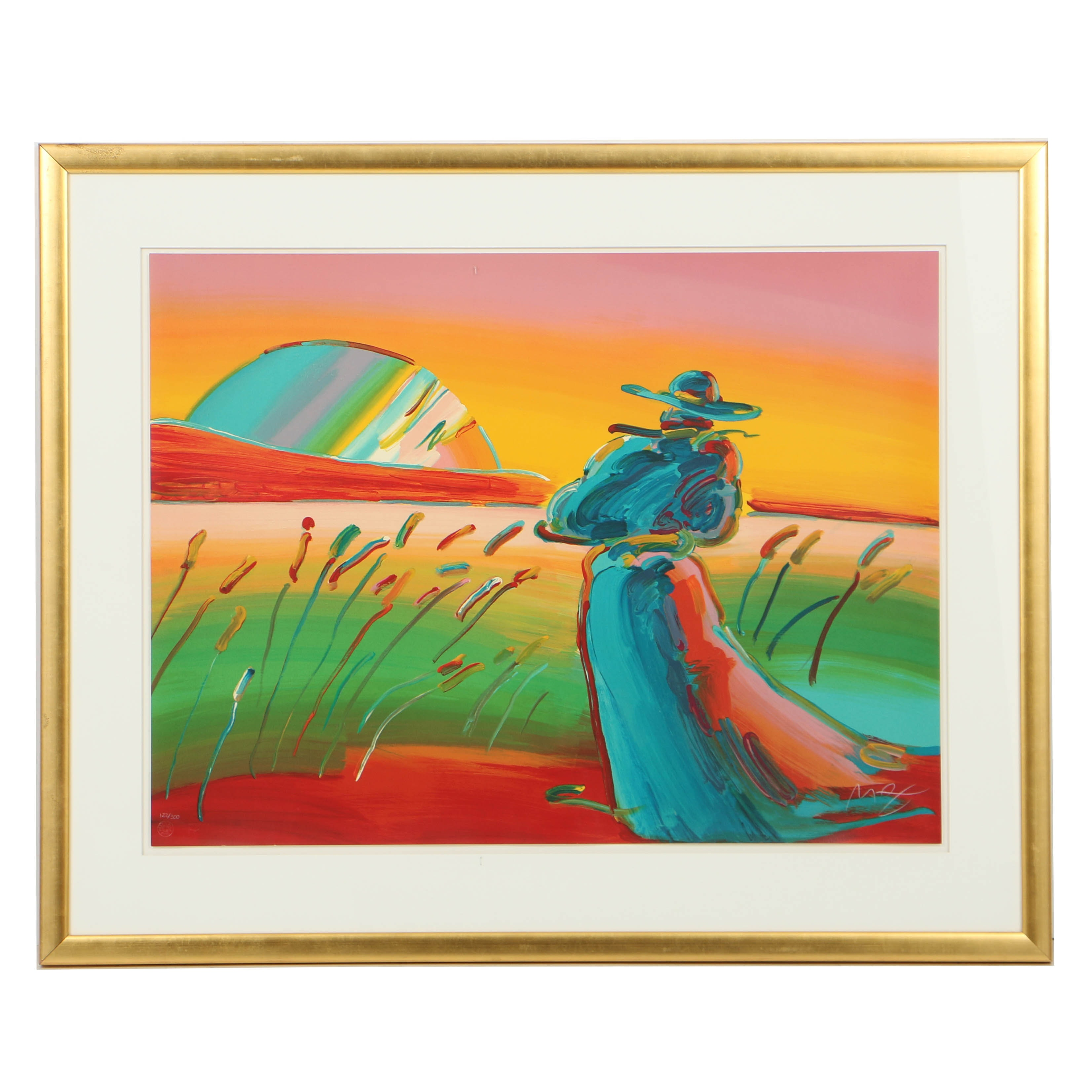 "Peter Max Limited Edition Lithograph ""Walking in Reeds II"""