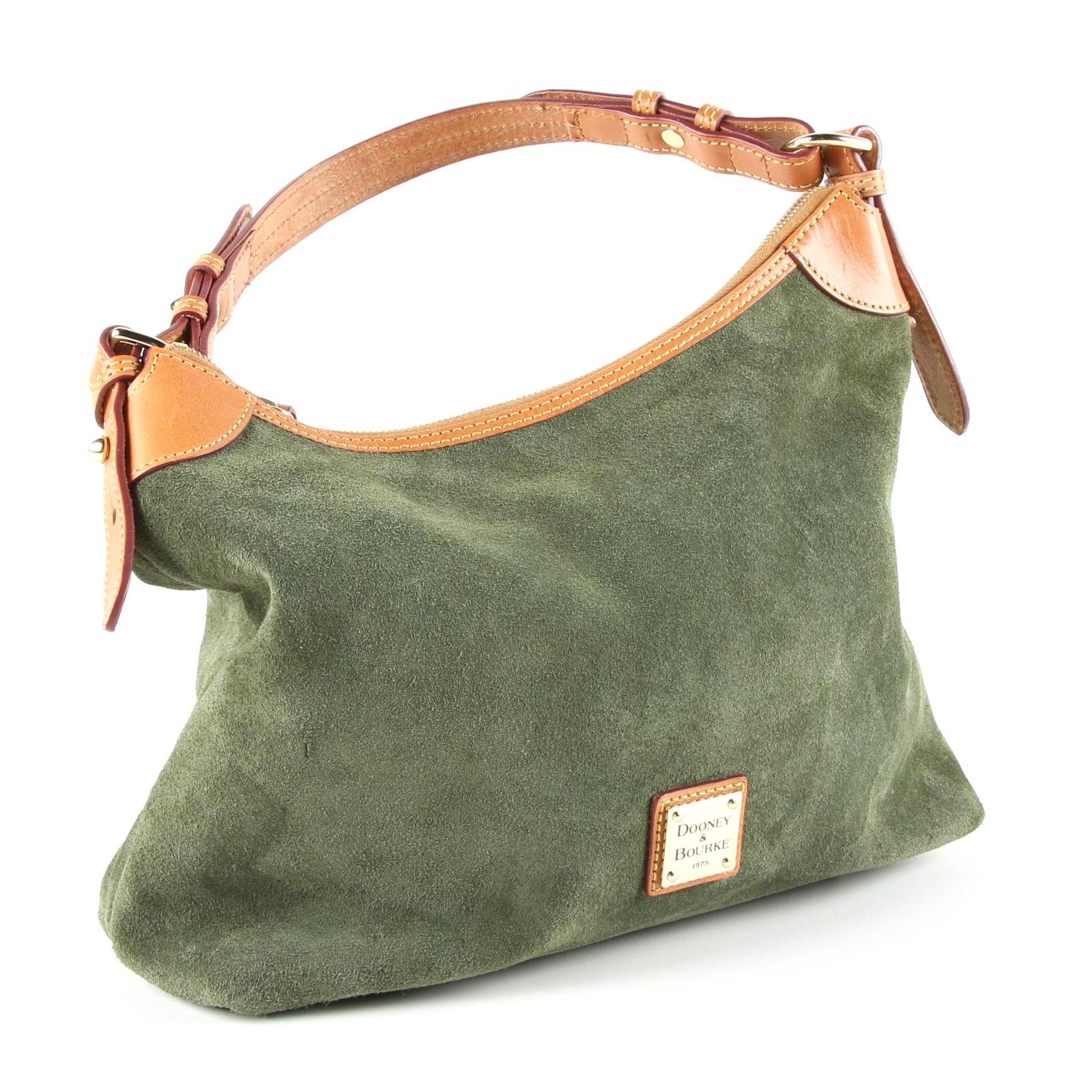 Dooney & Bourke Forest Green Suede Hobo Bag