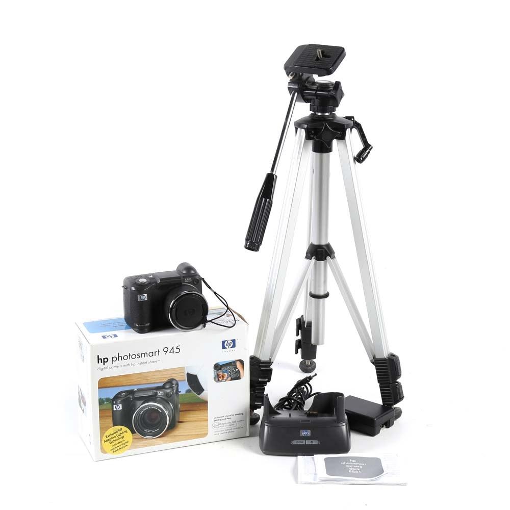 HP Photosmart 945 Digital Camera and Tripod