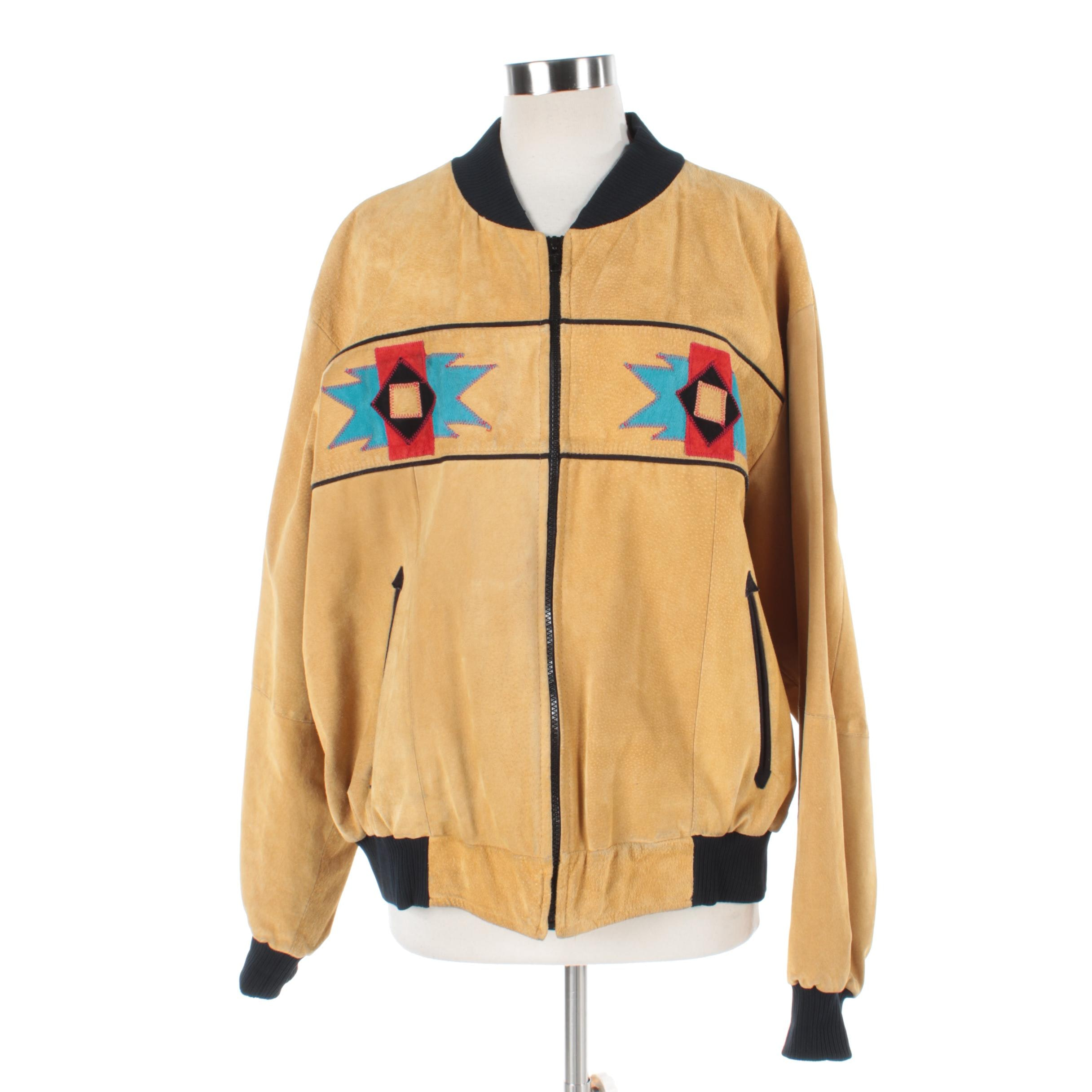 Women's Pioneer Wear Suede Zipper Front Jacket