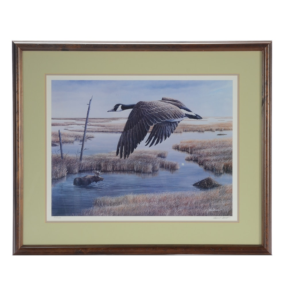 """Kevin T. Daniel Limited Edition Offset Lithograph """"Wetlands And Wilds"""""""