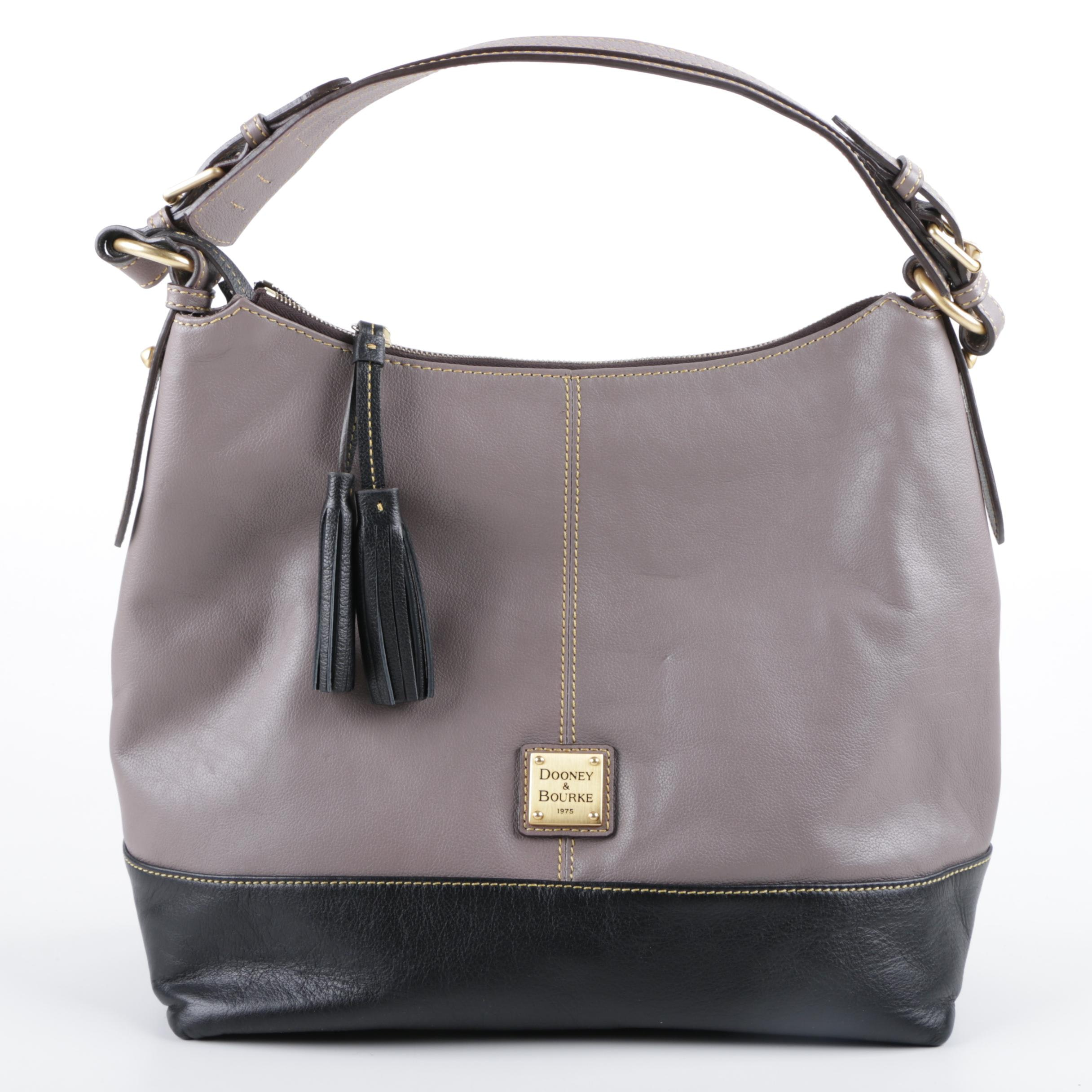 Dooney & Bourke Sophie Hobo Handbag in Black and Gray Leather