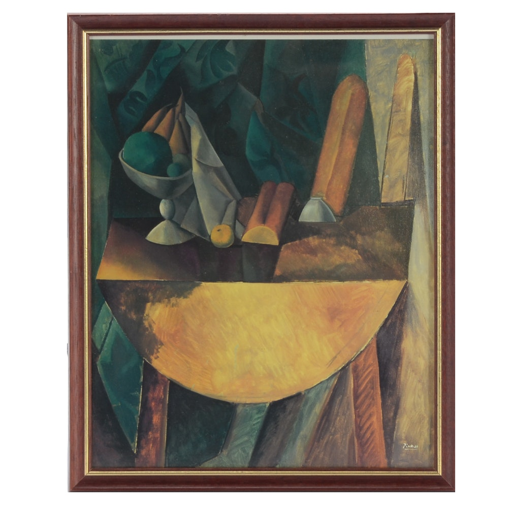 "Offset Lithograph after Picasso ""Bread and Fruit Dish on a Table"""