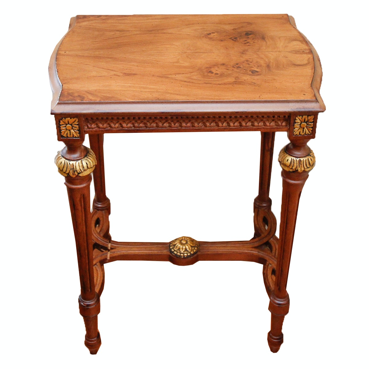 Neoclassical Mahogany Accent Table