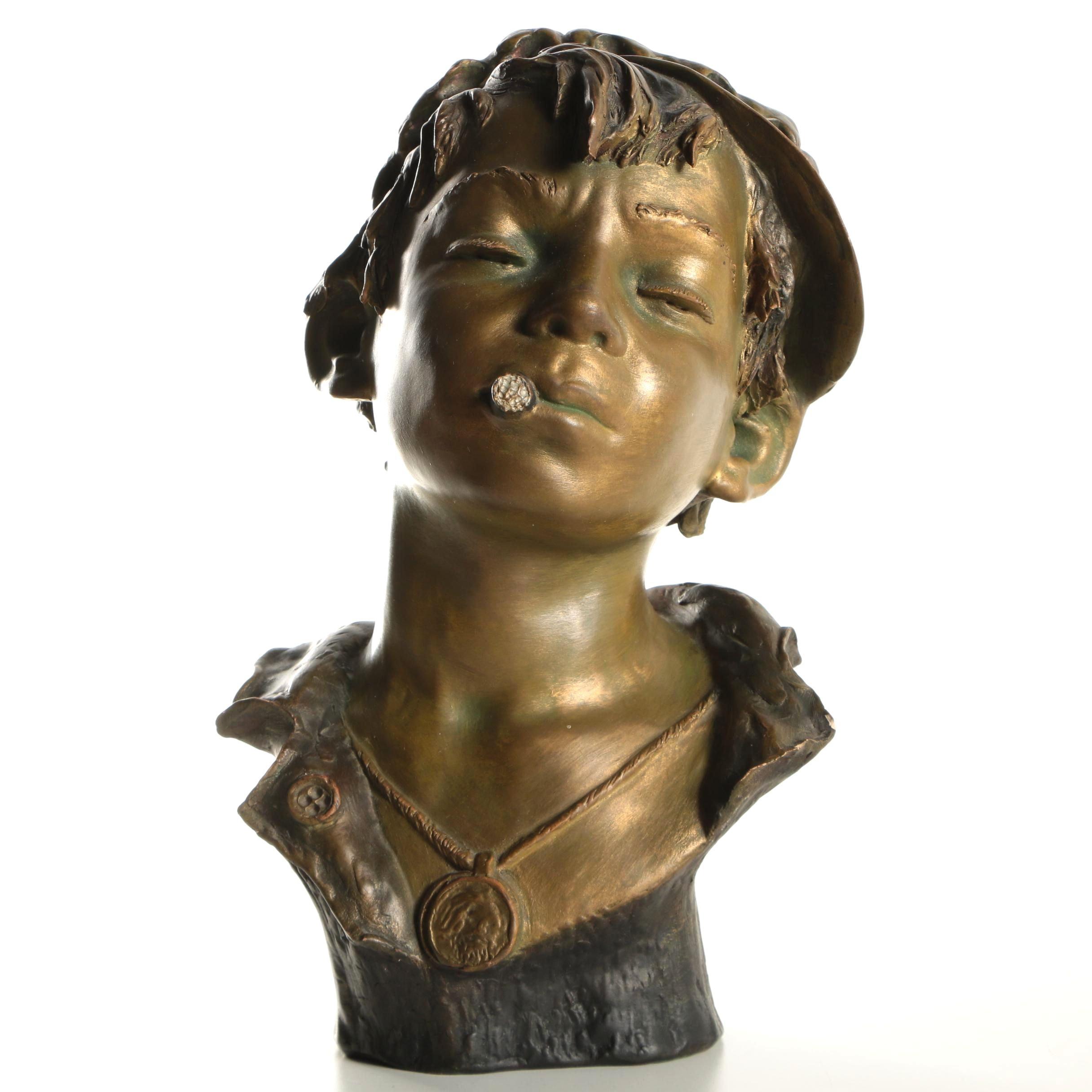 Plaster Sculpture of Boy