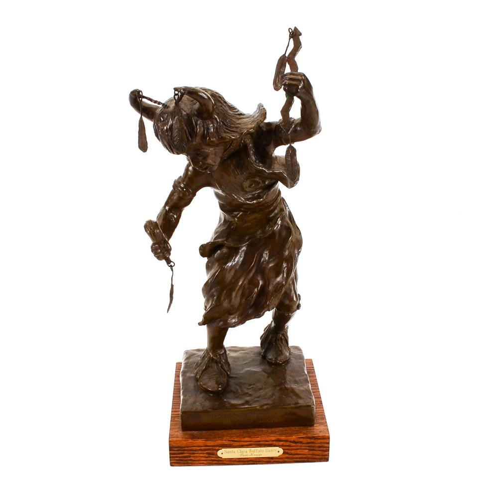 """""""Buffalo Dance"""" Bronze Sculpture"""