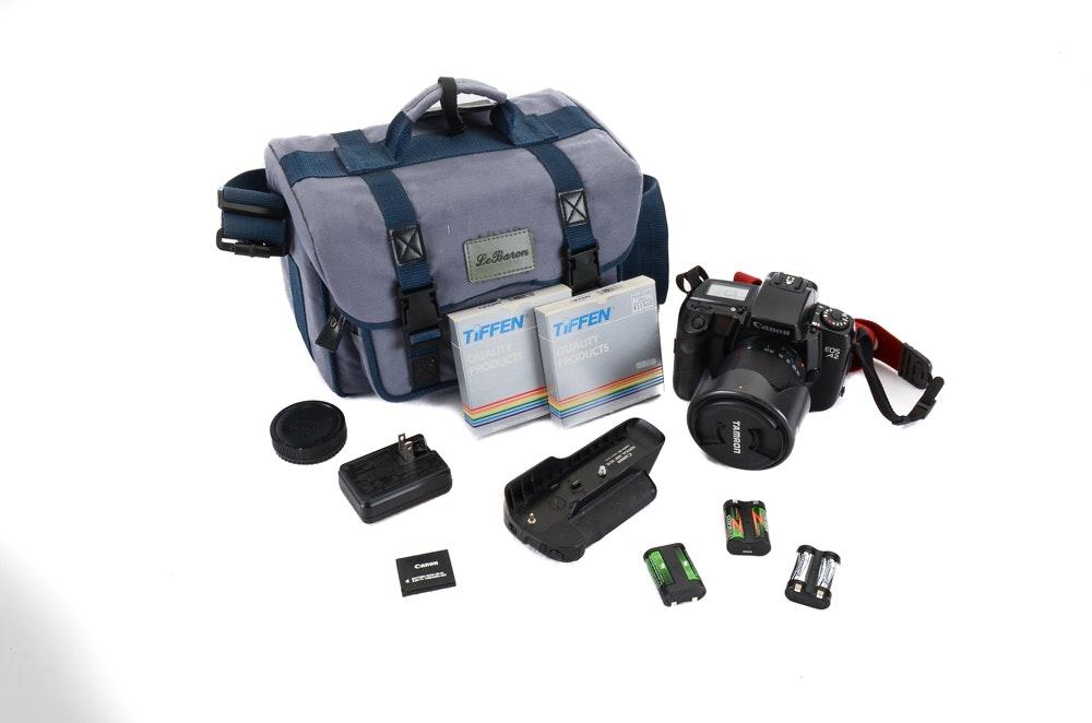 Canon Eos A2 Camera with Accessories