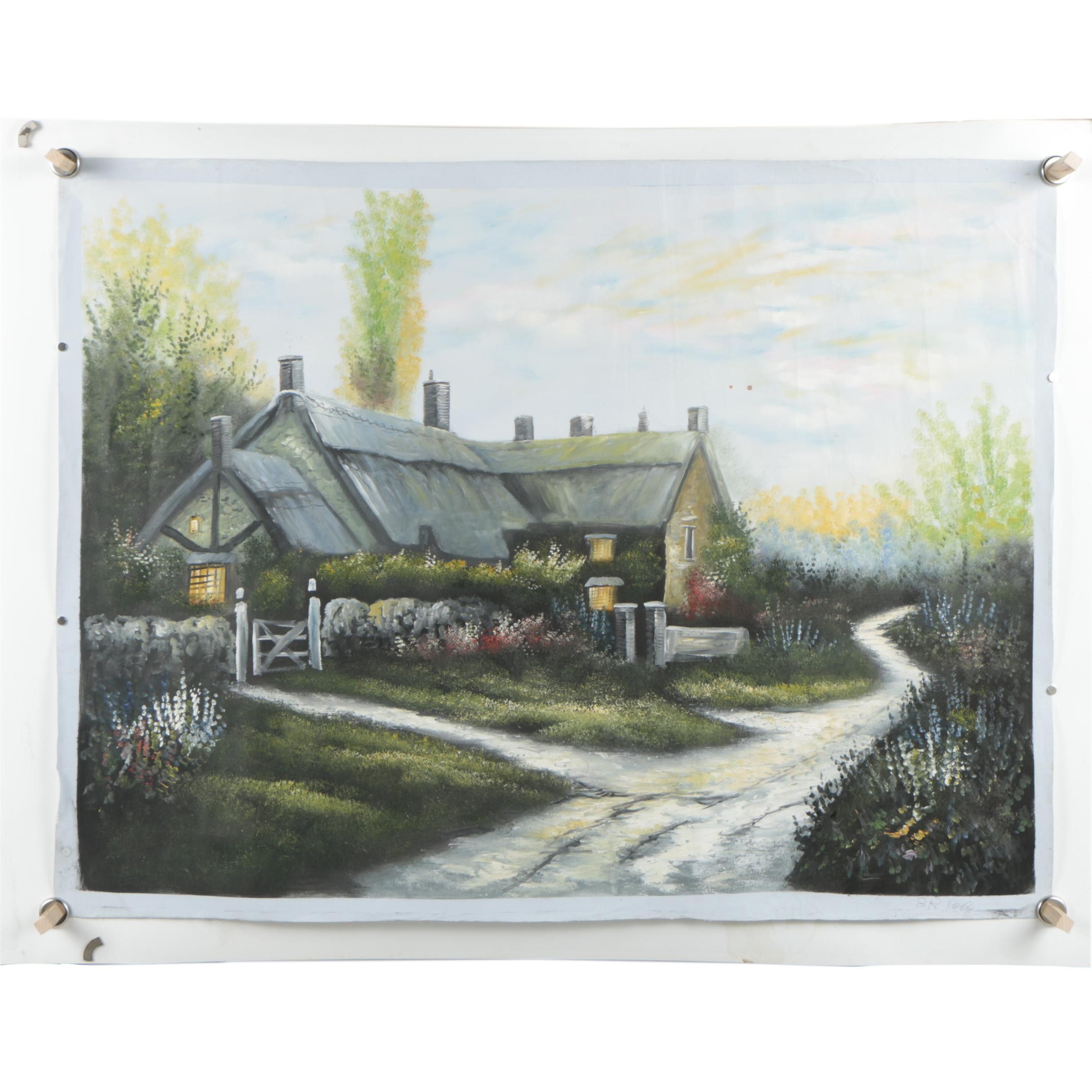 Oil Painting of a Cottage