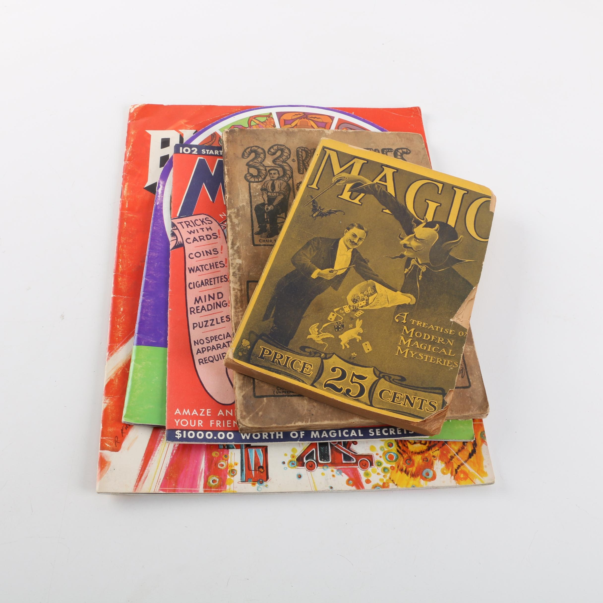Vintage Magic Instruction Booklets with Blackstone and André Kole Programs