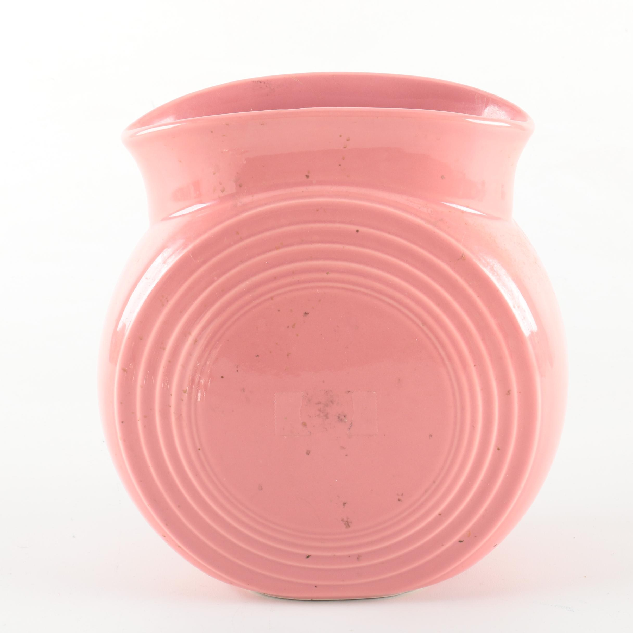 "Fiesta ""Millennium ll"" Pink Ceramic Vase"
