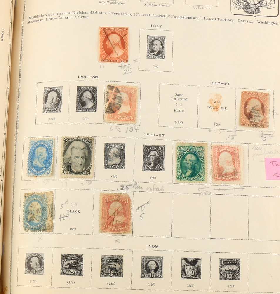Vintage International Postage Stamp Album