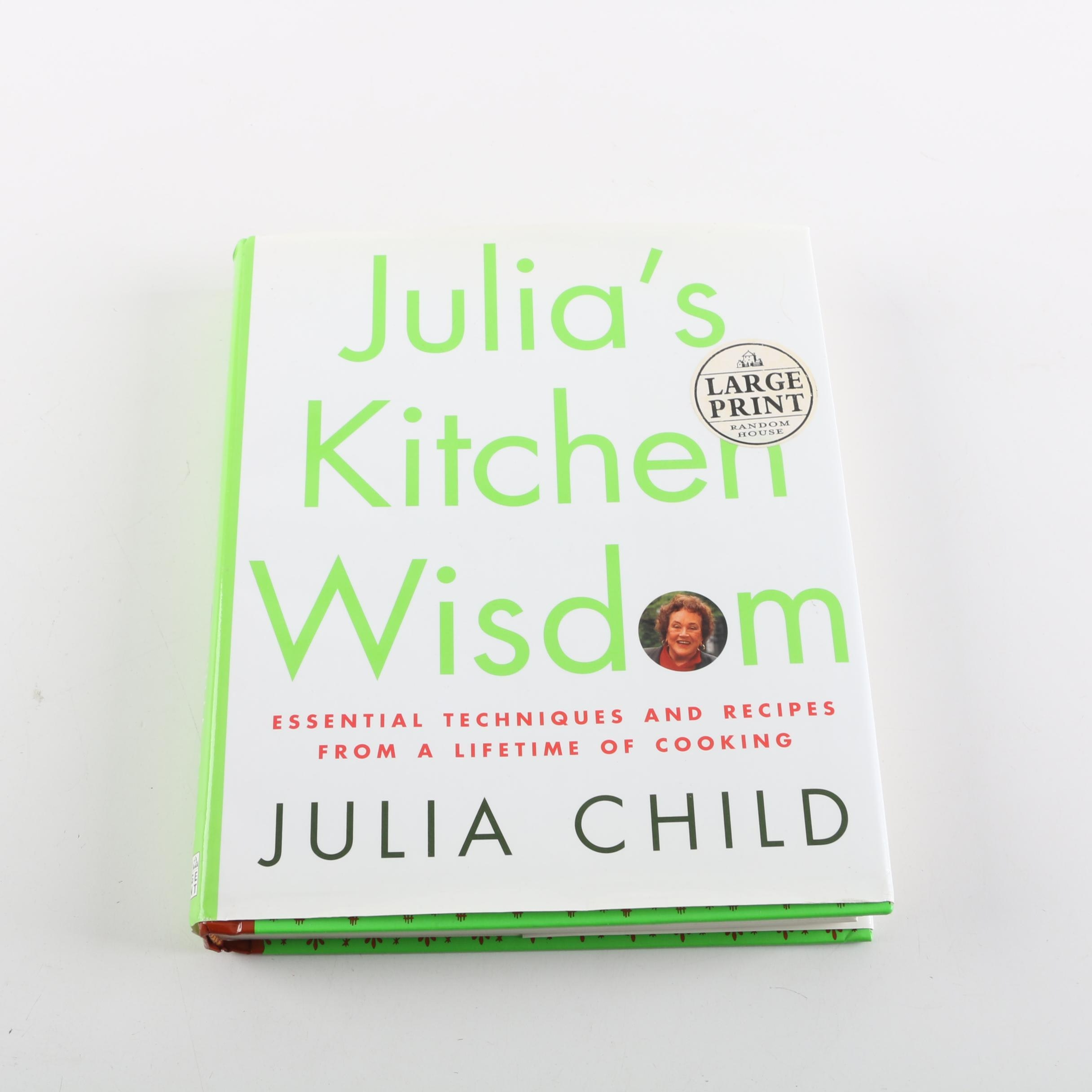 """2000 First Large Print Edition of """"Julia's Kitchen Wisdom"""" by Julia Child"""