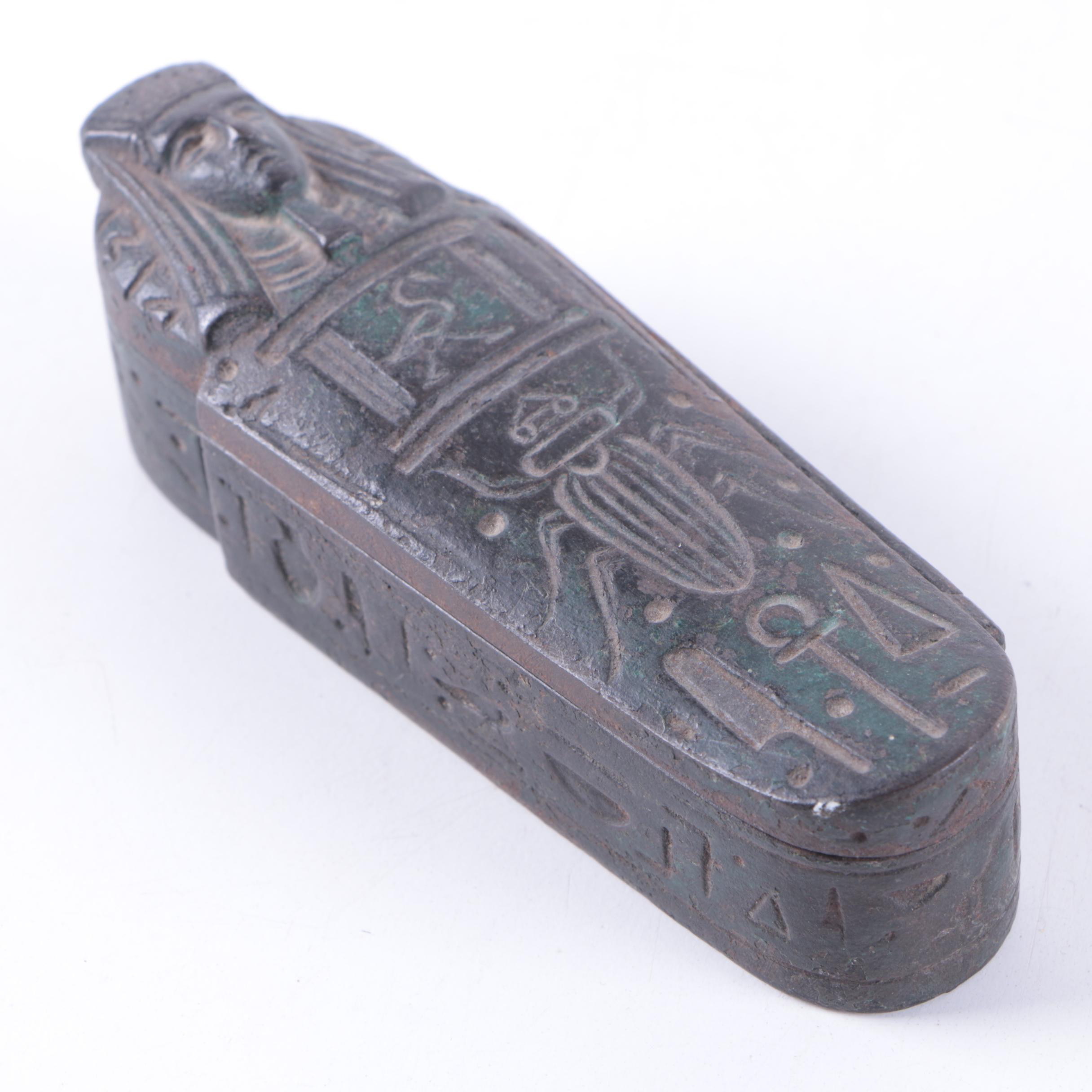 Metal Sarcophagus Trinket Box