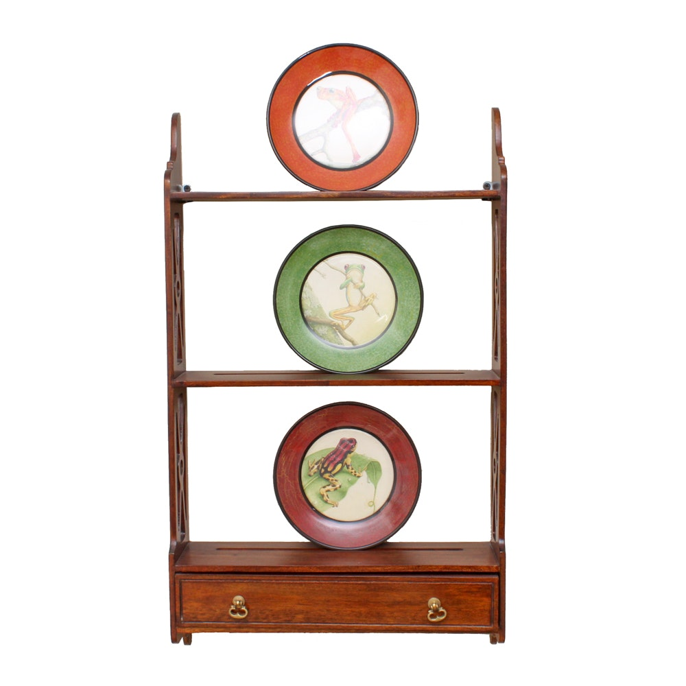 Tree Frog Plates and Plate Rack