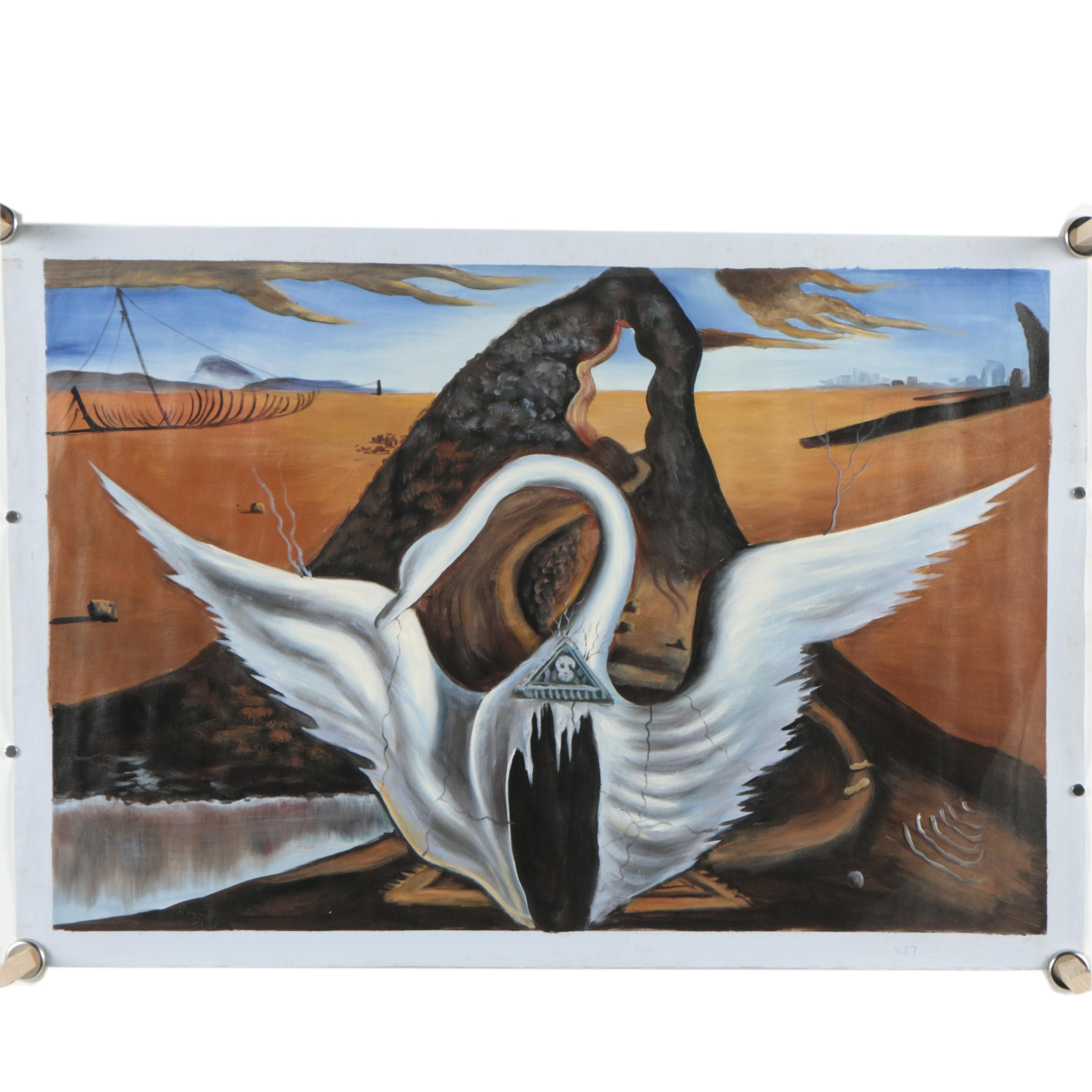 "Copy Oil Painting After Salvador Dalí's ""Set for 'Bacchanale'"""