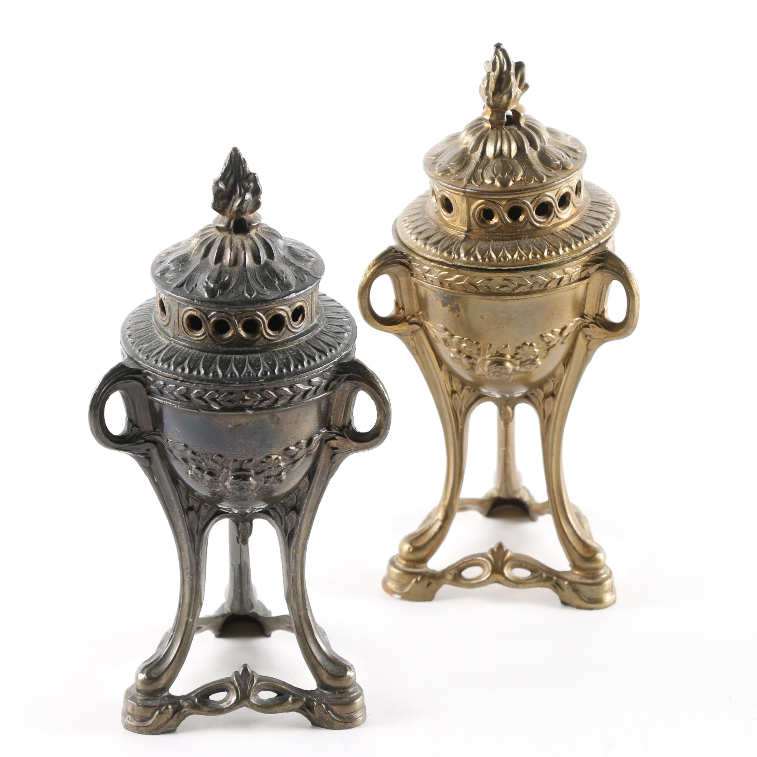 Metal Footed Incense Burners