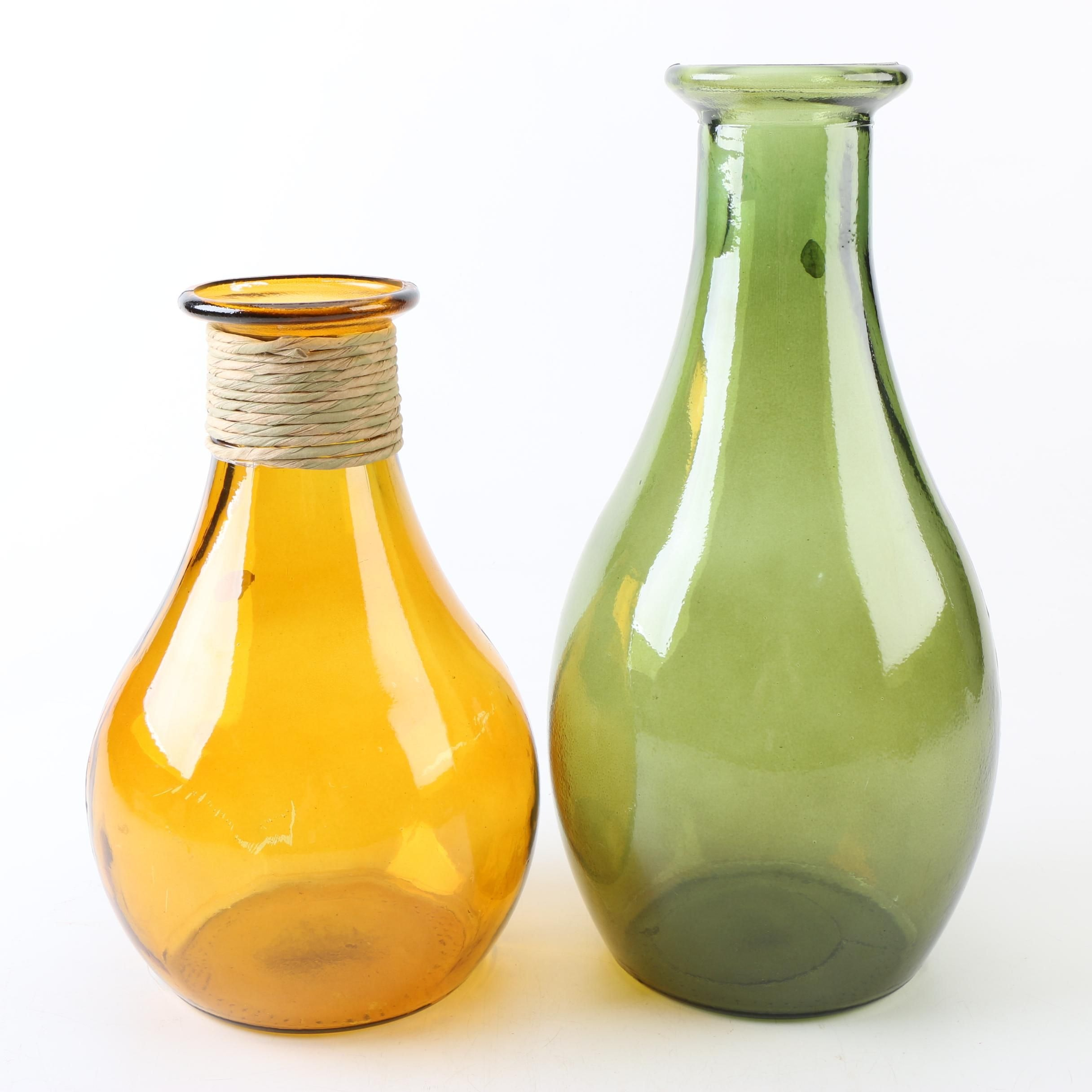 San Miguel Spanish Recycled Glass Vases