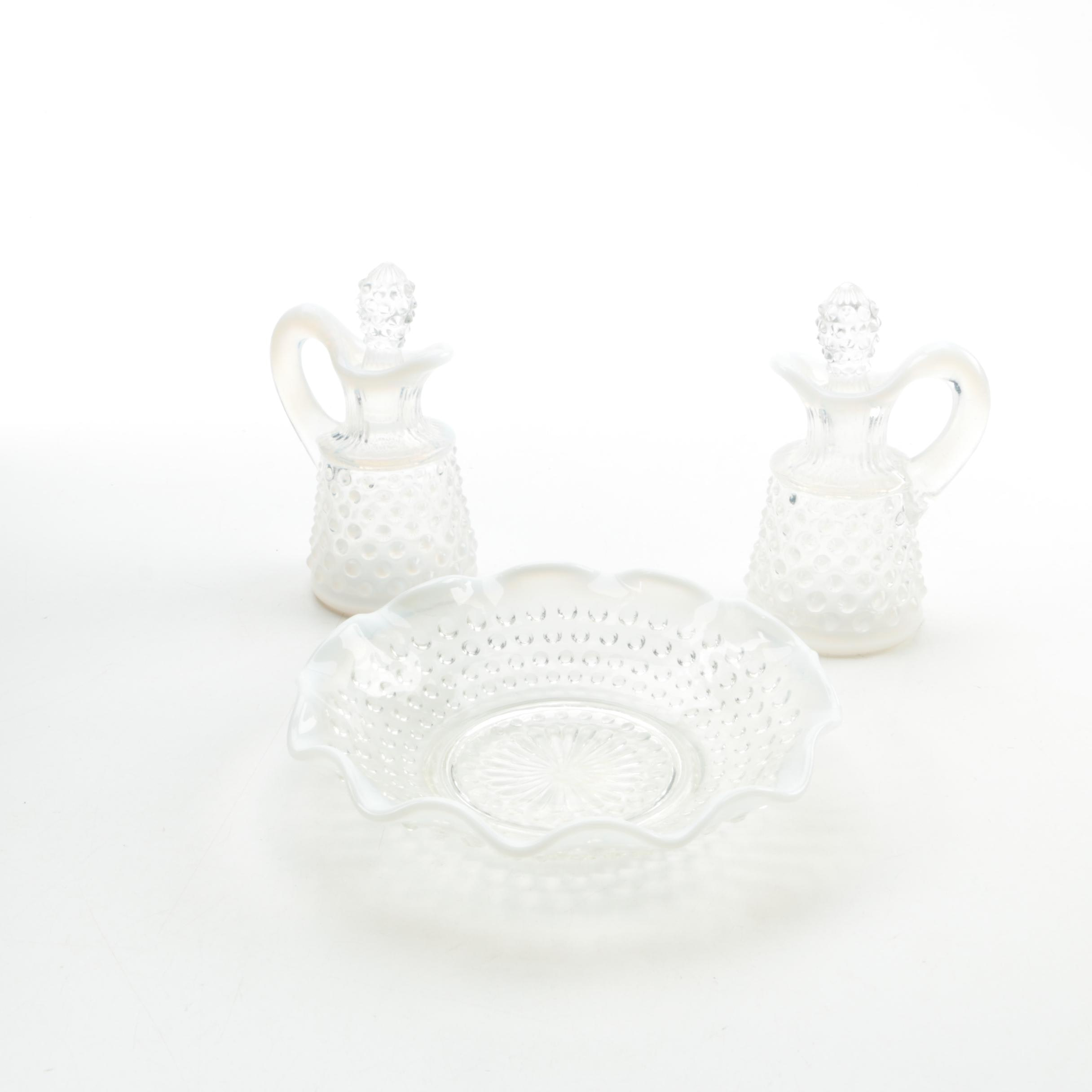 Hobnail Glass Serving Pieces