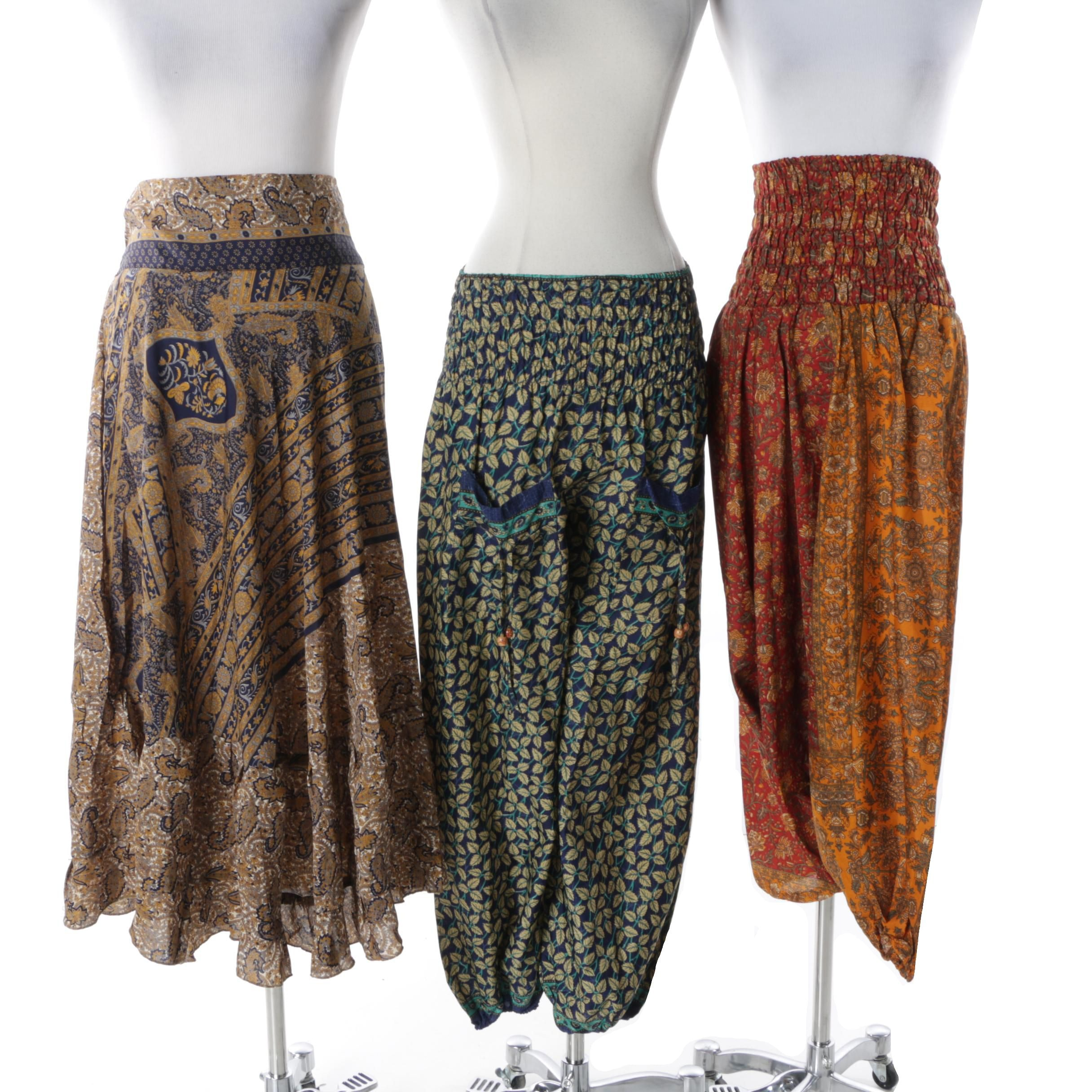 One of a Kind Vintage Sari Convertible Clothing Pieces