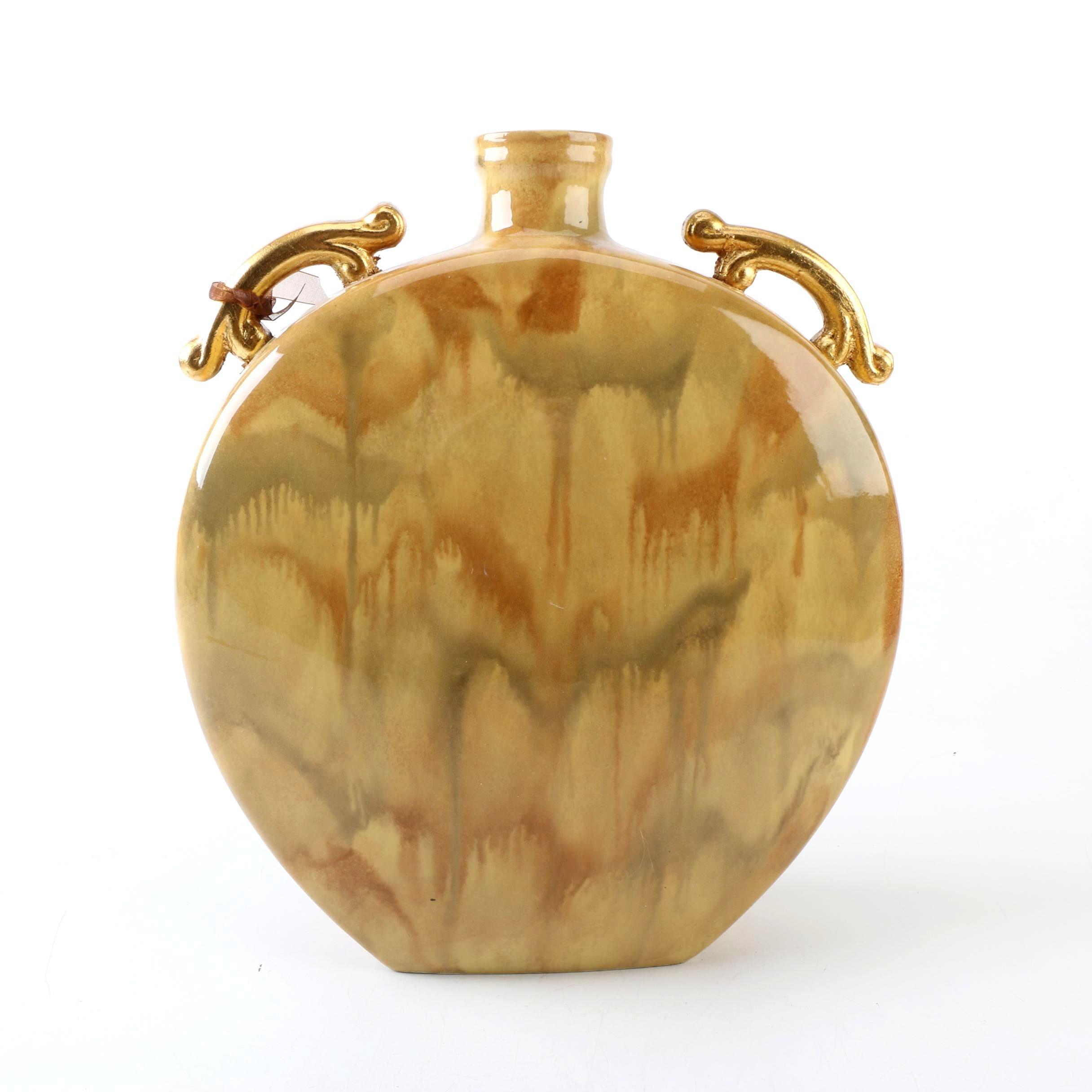 Ceramic Flask Style Vase by Garcia Imports